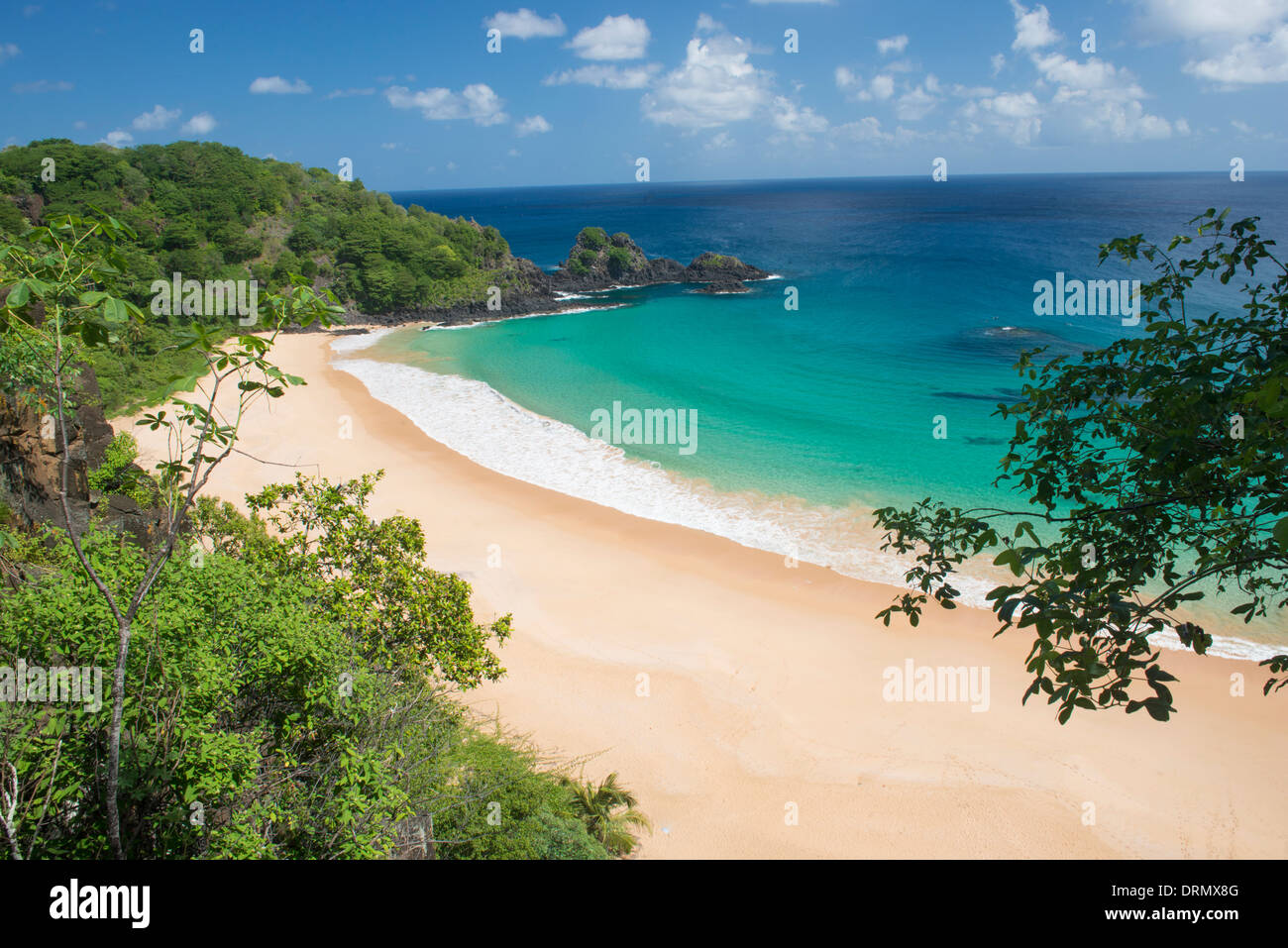 Sancho Beach Fernando De Noronha National Marine Park Brasilien Brasiliens beste Strand Atlantik zum UNESCO-Weltkulturerbe Stockbild
