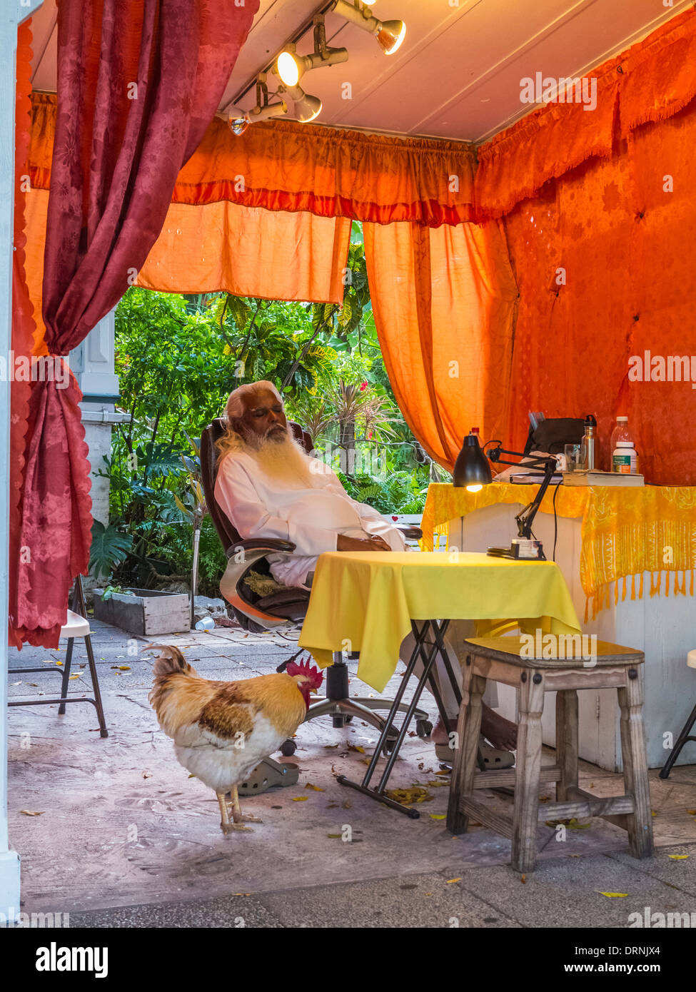 Wahrsagerin in Key West, Florida, USA Stockbild