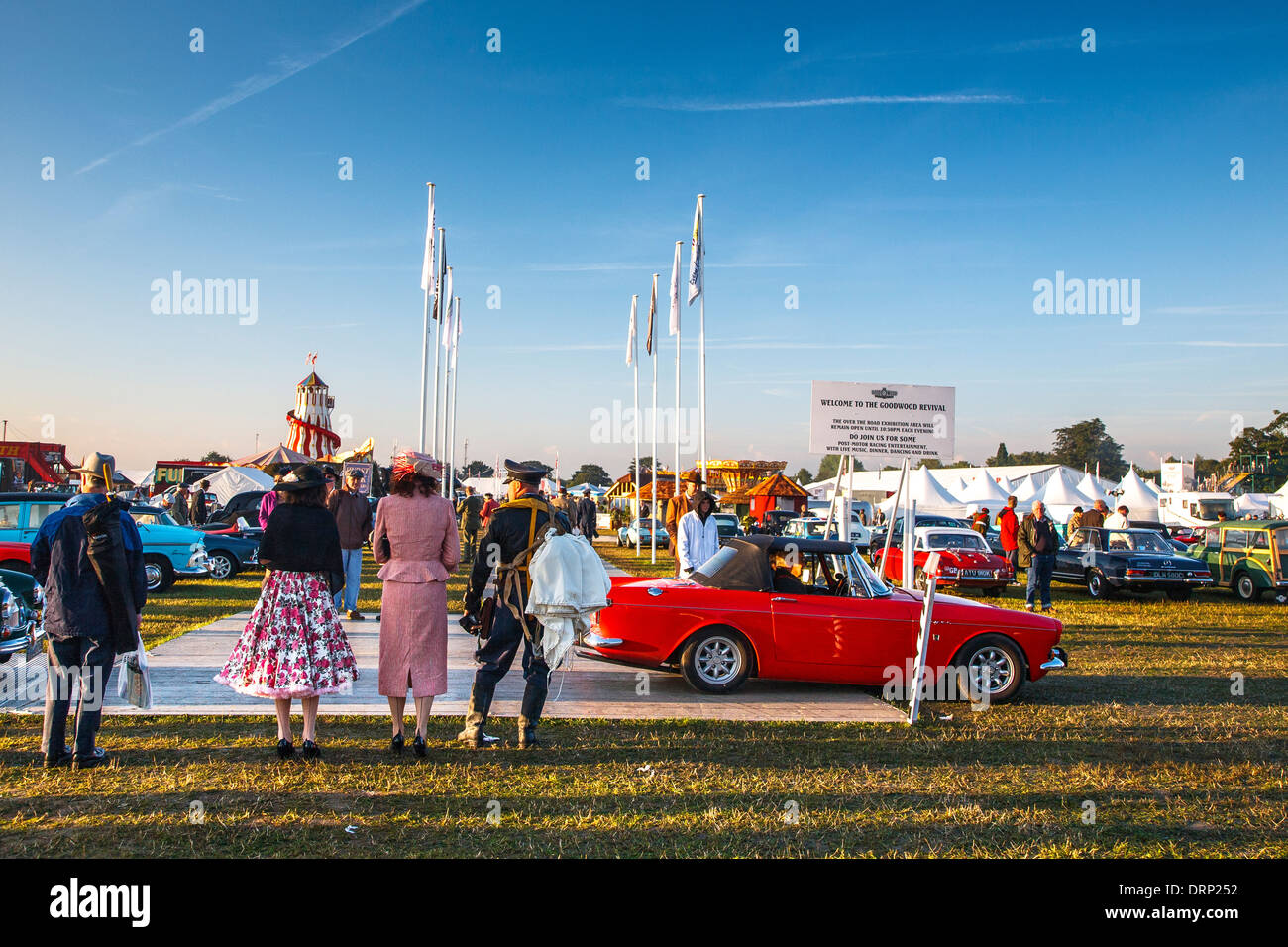 Goodwood Revival Oldtimer Treffen 2013, West Sussex, UK Stockbild