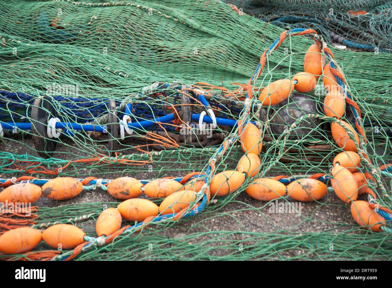 Fischernetze Stockbild