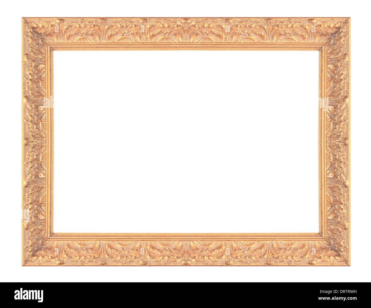 Alt antik gold Bild-Rahmen-Wand, Tapete, dekorative Objekte isoliert ...