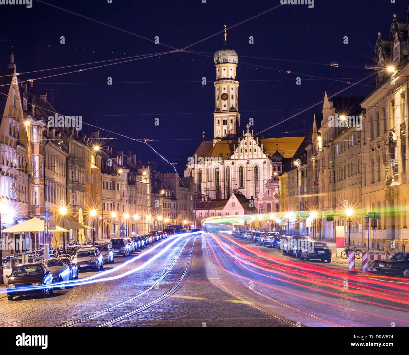 Augsburg, Deutschland Stadtbild. Stockbild