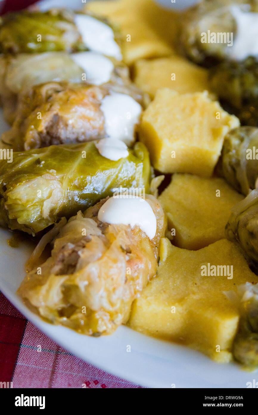 Rumänische Küche | Rumanische Traditionelle Kuche Sarmale Rollt Kohlrouladen Mit