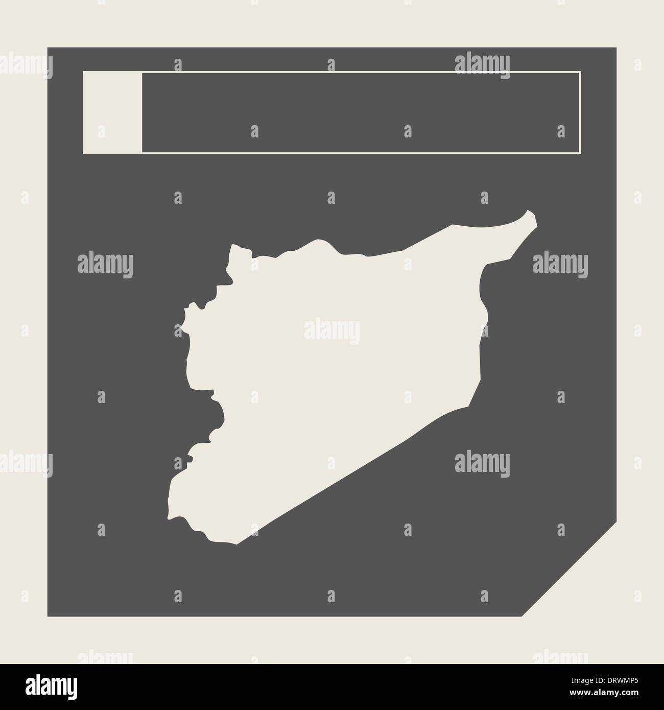 Syrien Map Schaltfläche In Ansprechende Flache Web Design Map Schaltfläche  Mit Beschneidungspfad Isoliert