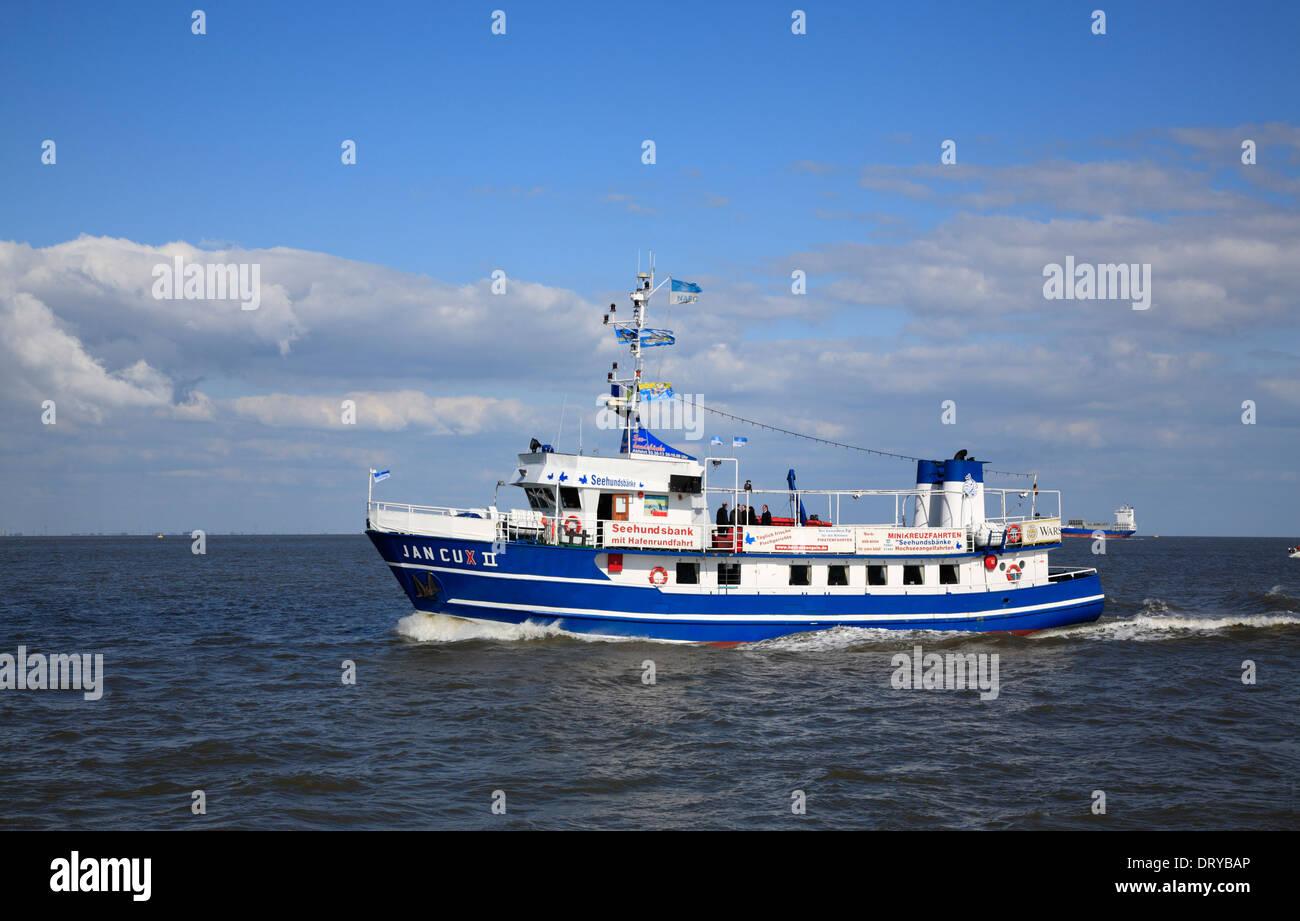 Sightseeing Schiff JAN CUX, Cuxhaven, Nordsee, Niedersachsen ...
