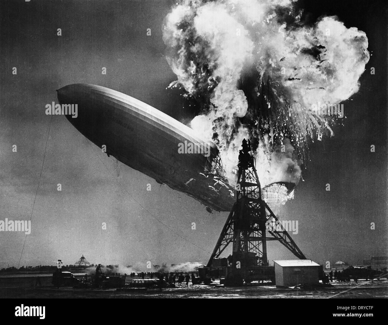 Hindenburg-Katastrophe Stockfoto
