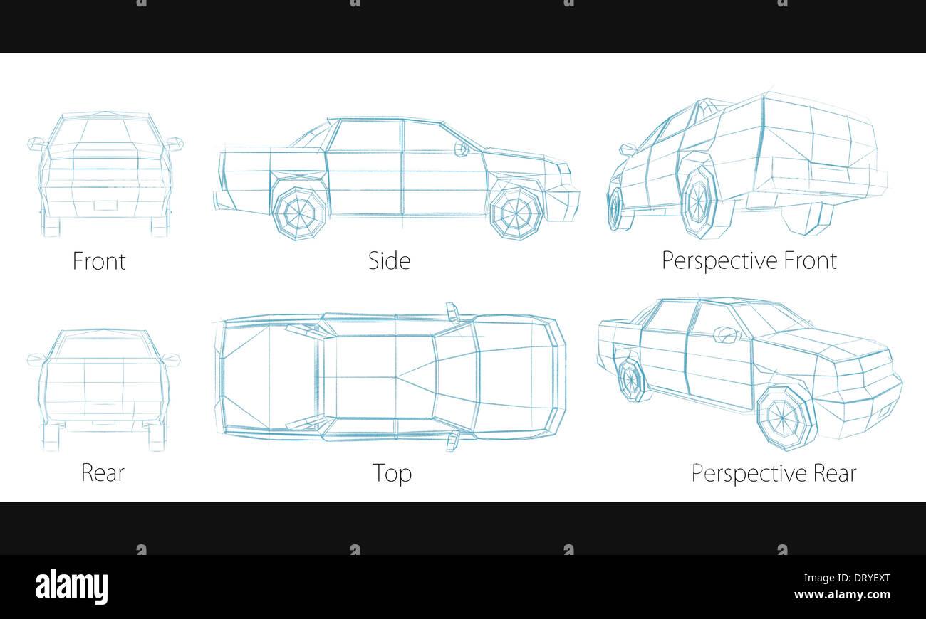 Berühmt Wie Man Ein Auto Skizziert Bilder - Die Besten Elektrischen ...