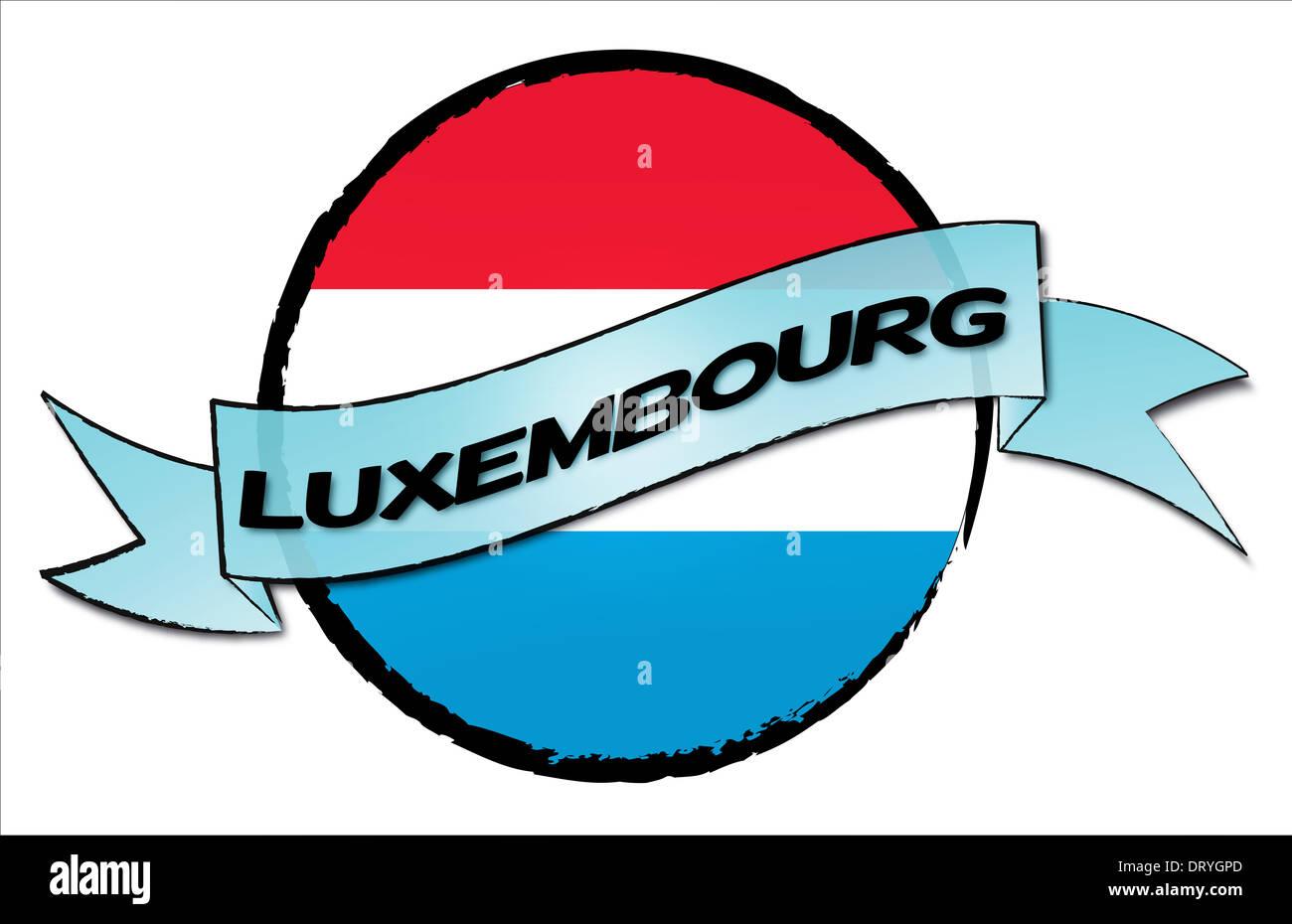 Kreis Land Luxemburg Stockbild