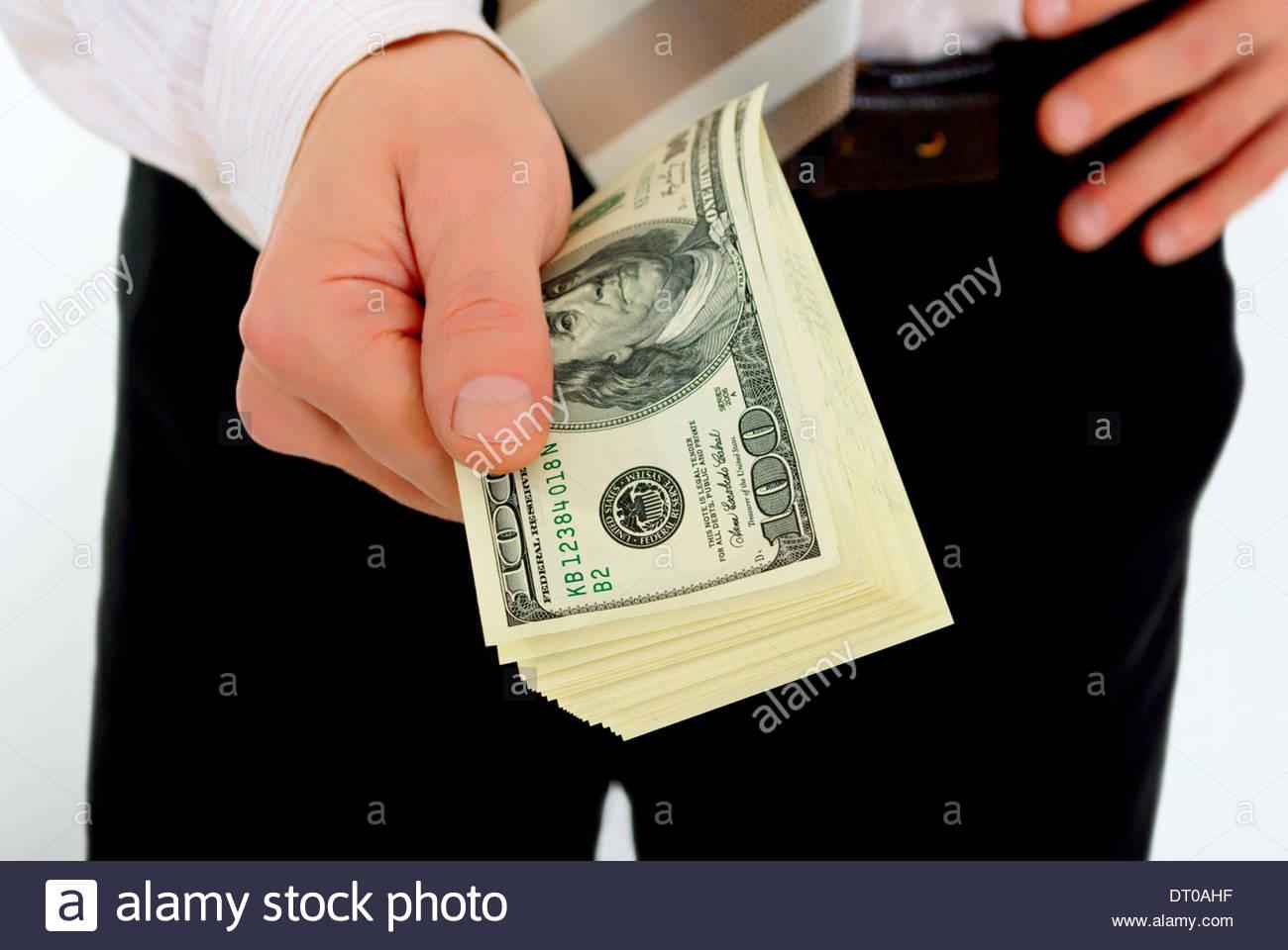 Bekommen Kredite in großem Maßstab. Stockbild