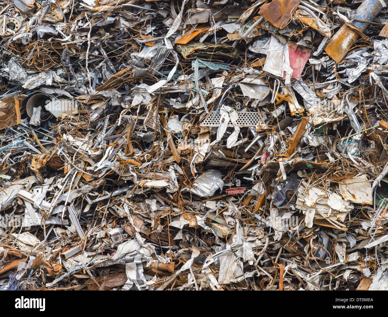 Washington USA Haufen Schrott Recycling Stockbild