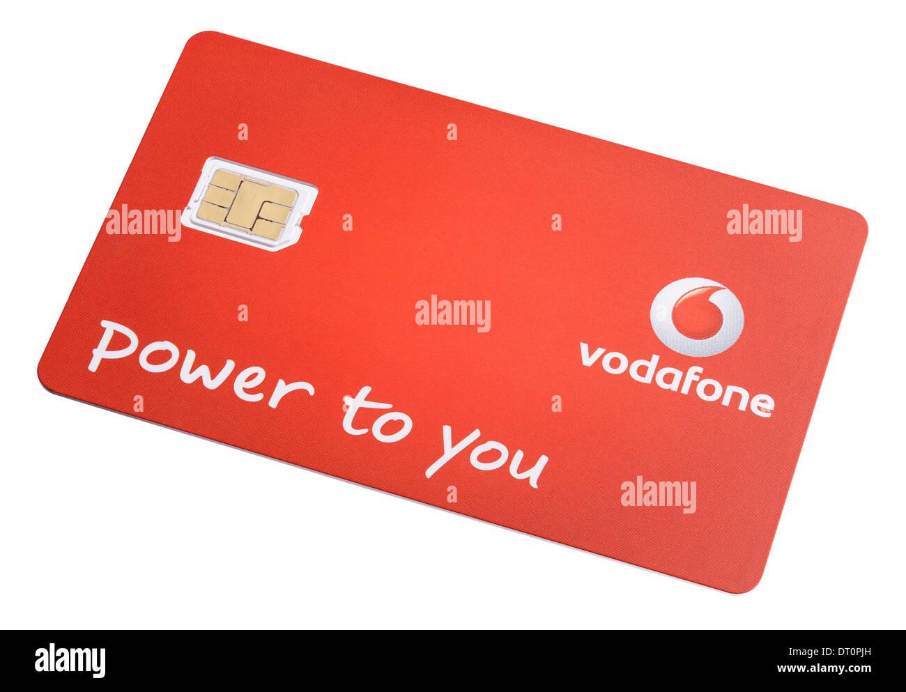 Nano Sim Karte Vodafone.Vodafone Nano Sim Karte Für Ein Mobiltelefon Stockfoto Bild