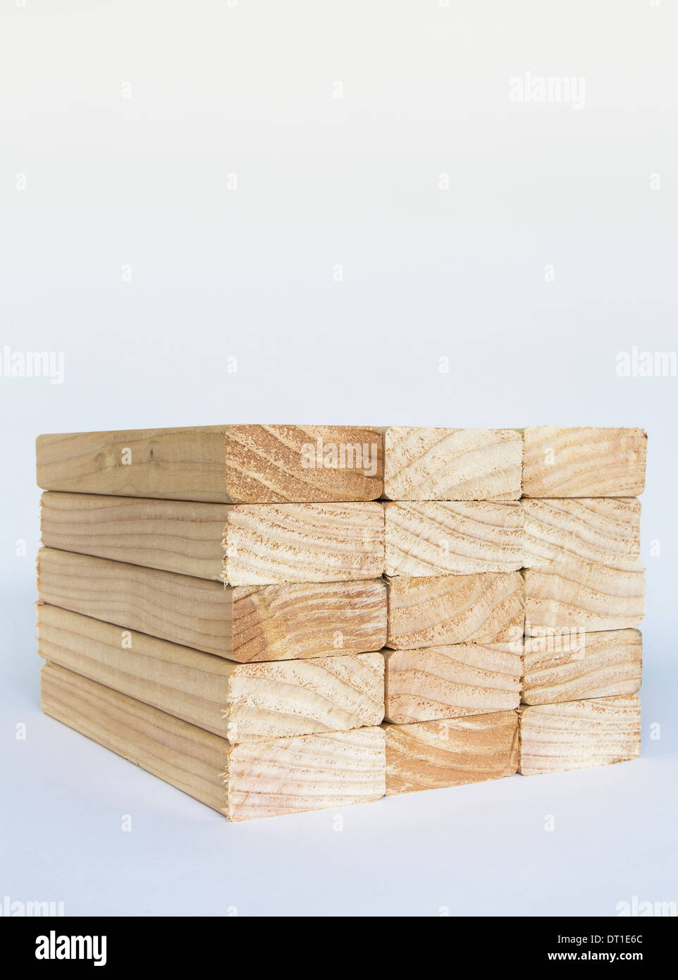 Washington State USA gesägt vorbereitete Holz Fichte Holzdielen oder Nieten Stockbild
