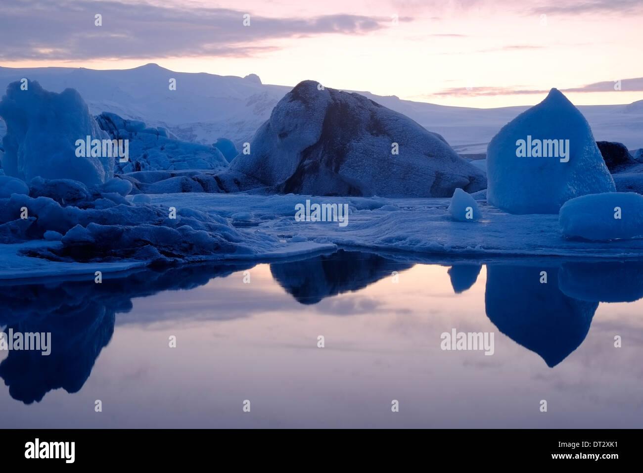 Jökulsárlón Glacial Lagune, Vatnajokul Eiskappe, Island Stockbild