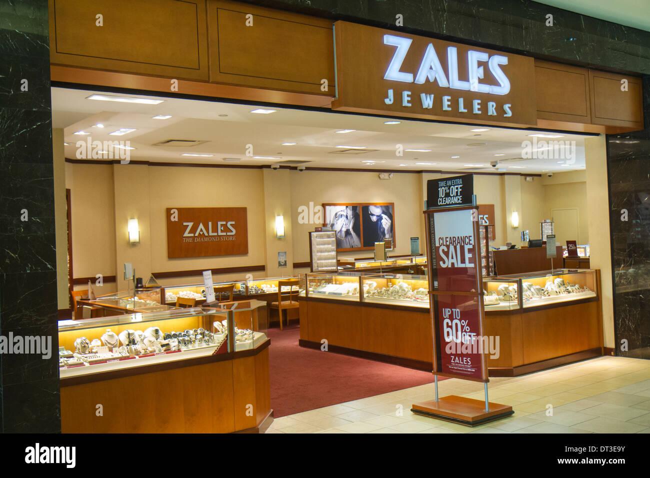 Fort Myers Florida Ft. Edison Mall Shopping Zales Juweliere Schmuck Schmuck Eingang Förderung anmelden Spiel 60%. Stockfoto