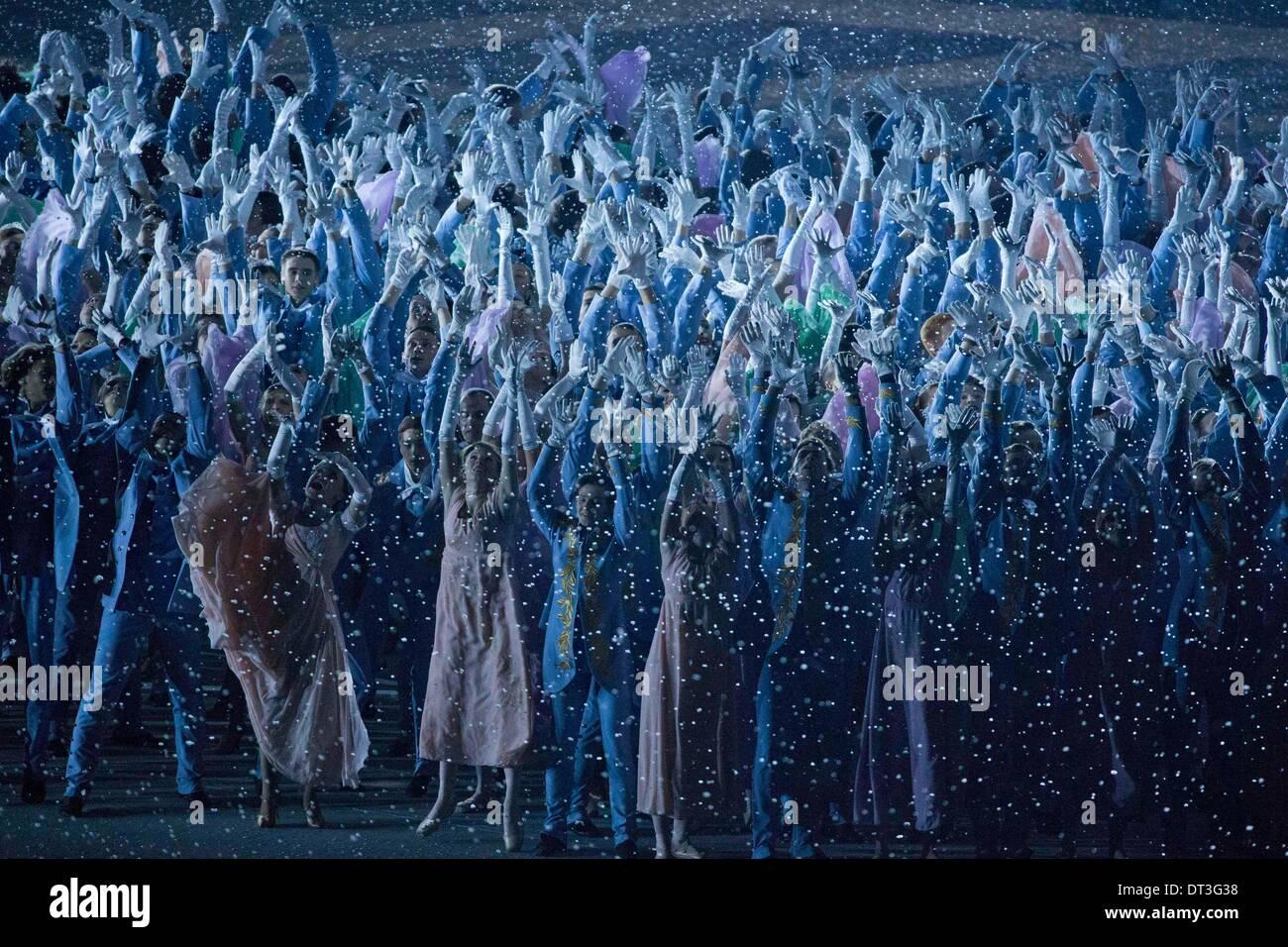 Sotschi Russland 7 Februar 2014 Künstler Führen Sie Während Der