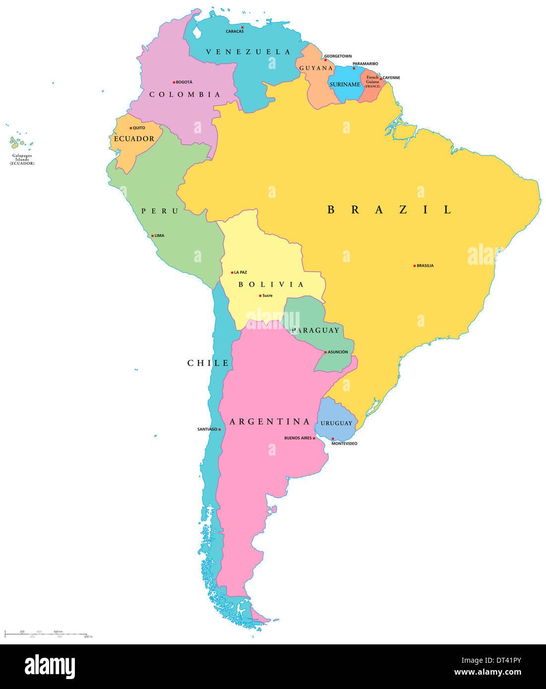 Sudamerika Karte Stockfotos Und Bilder Kaufen Alamy