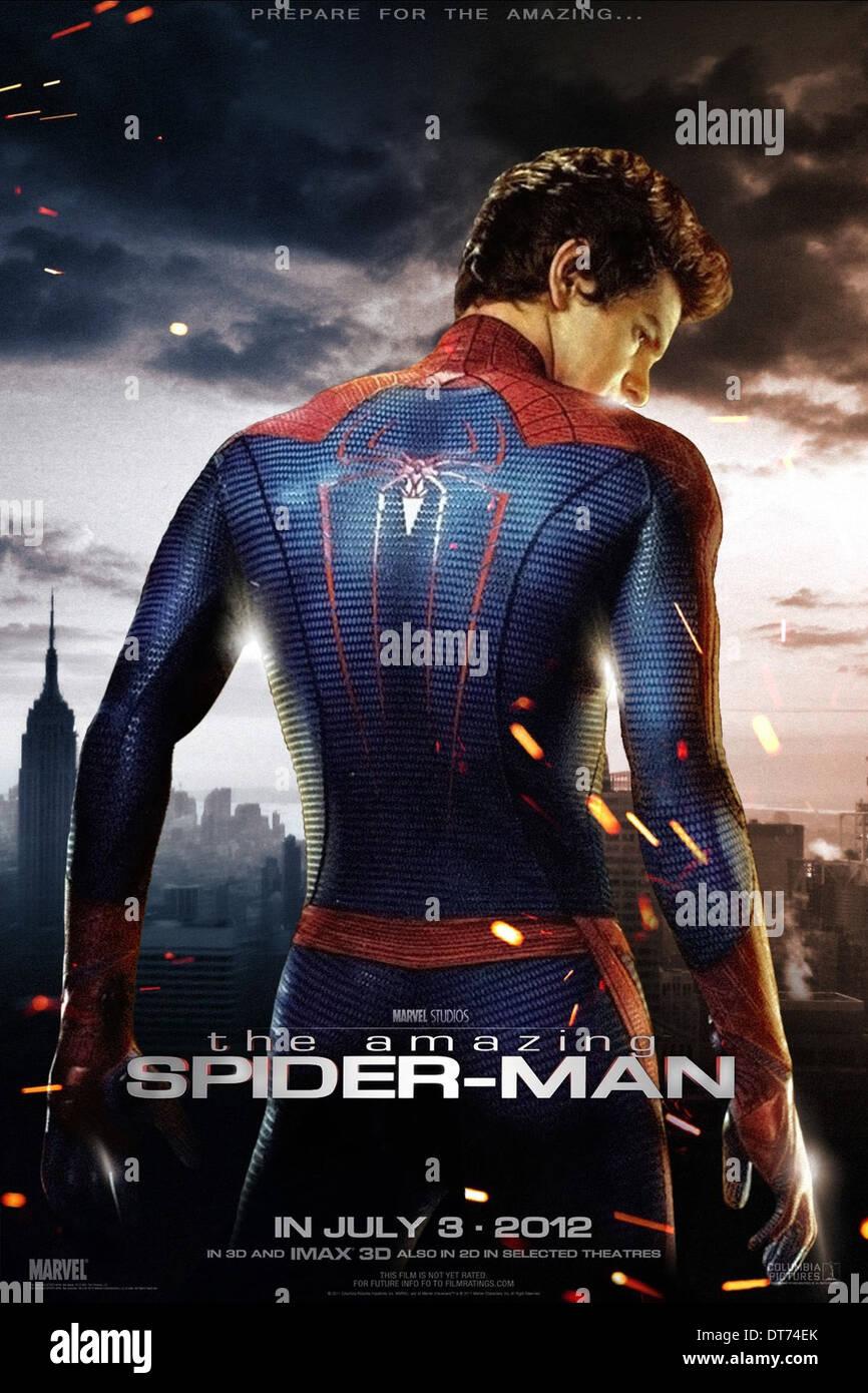 Andrew Garfield Poster The Amazing Spider Man Spiderman Spider Man 2012 Stockfotografie Alamy