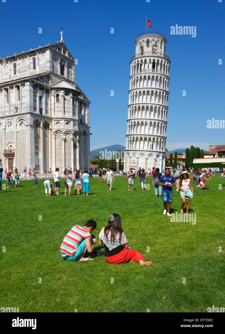 Pisa schiefe Turm, Toskana Italien Stockfoto