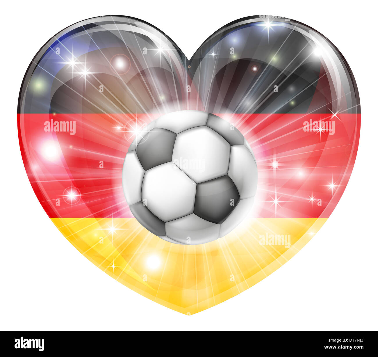 Deutschland Fussball Fussball Ball Fahne Liebe Herz Konzept