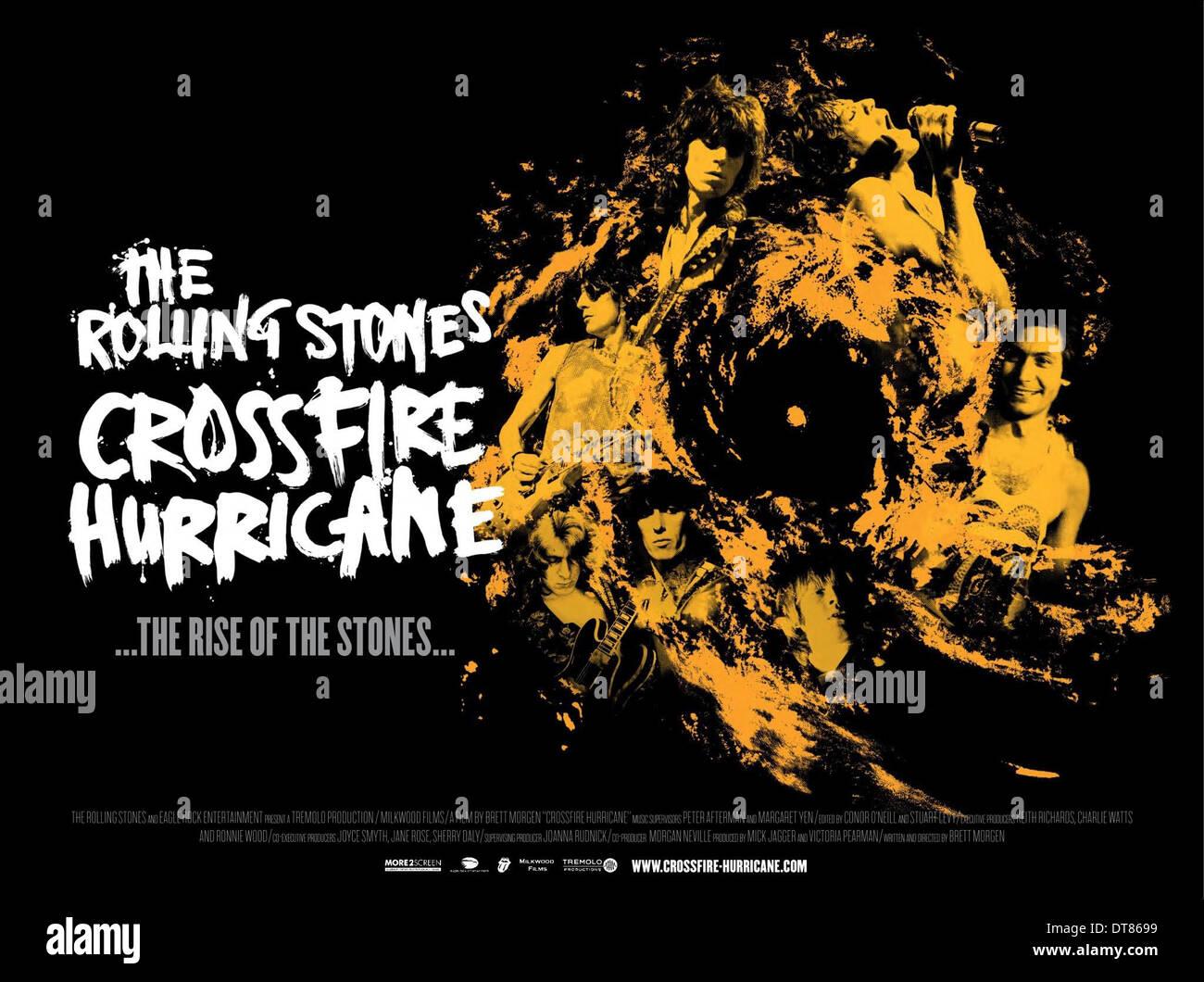 FILM POSTER CROSSFIRE HURRICANE (2012) Stockbild
