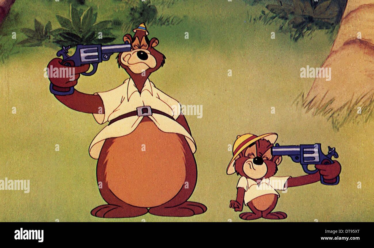 Winzling Pygmäen 1948 MGM Animation mit George auf der linken Seite und Junior Stockbild