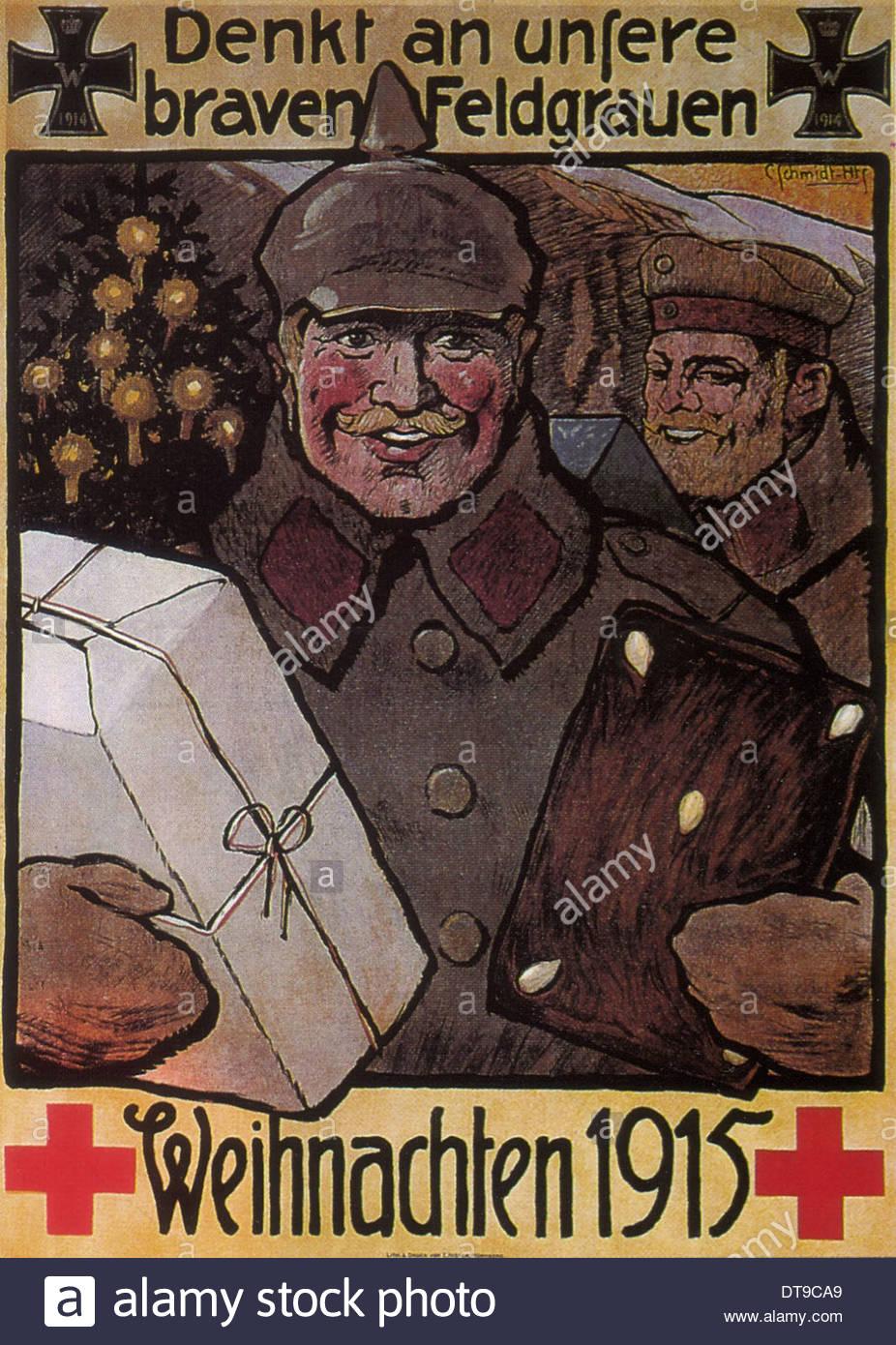 Vergessen Sie nicht unsere gute Männer in Feld grau. Weihnachten ...