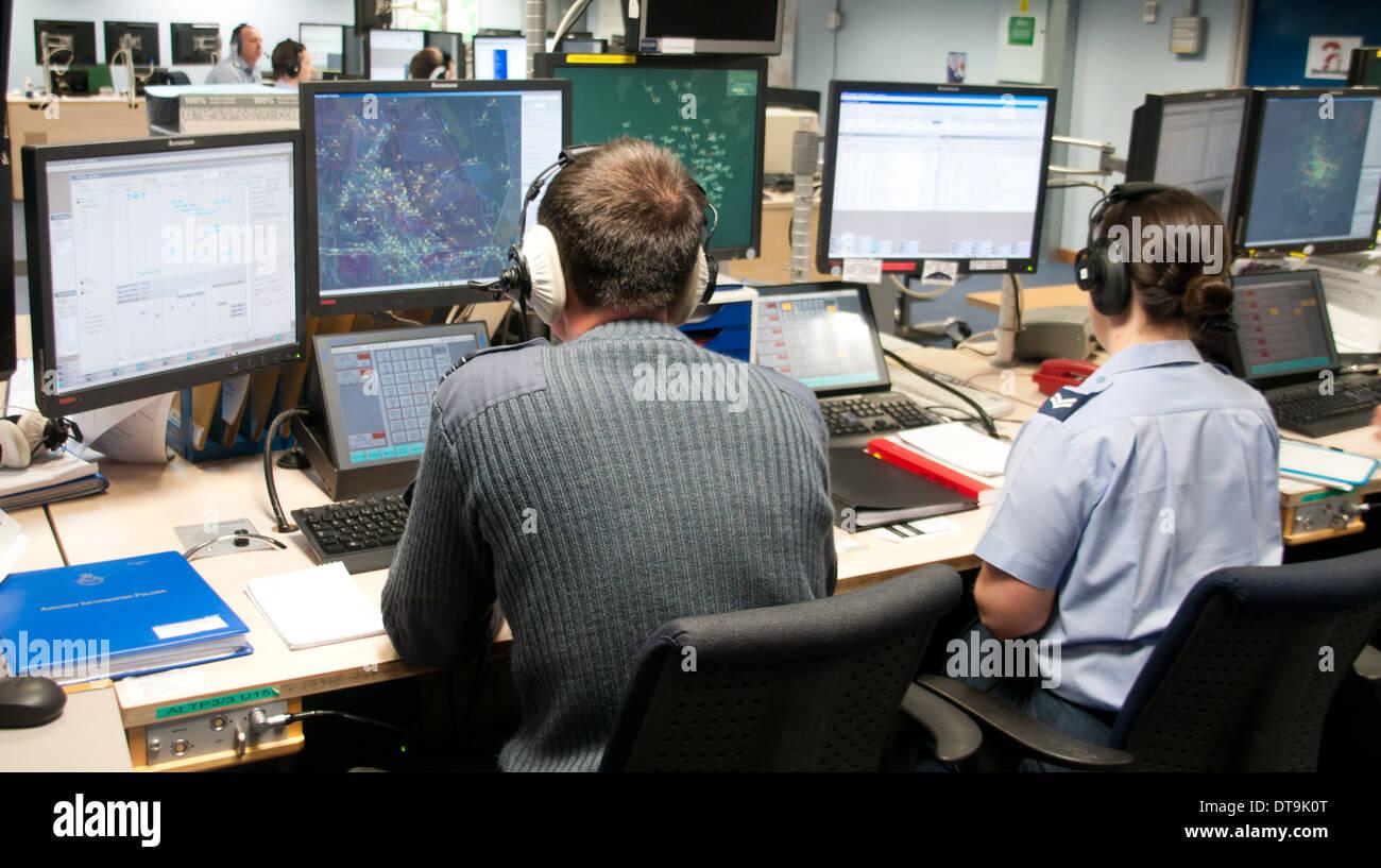 Betreiber von RAF-Boulmer ist der Sitz der Luftraumüberwachung und Control System (ASACS) Kraft. Stockfoto