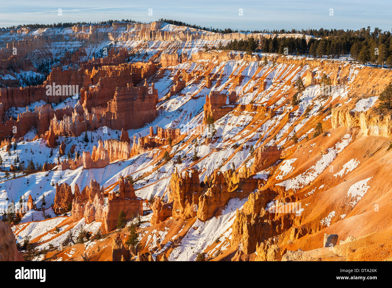 Winter im Bryce-Canyon-Nationalpark, Utah - USA Stockbild