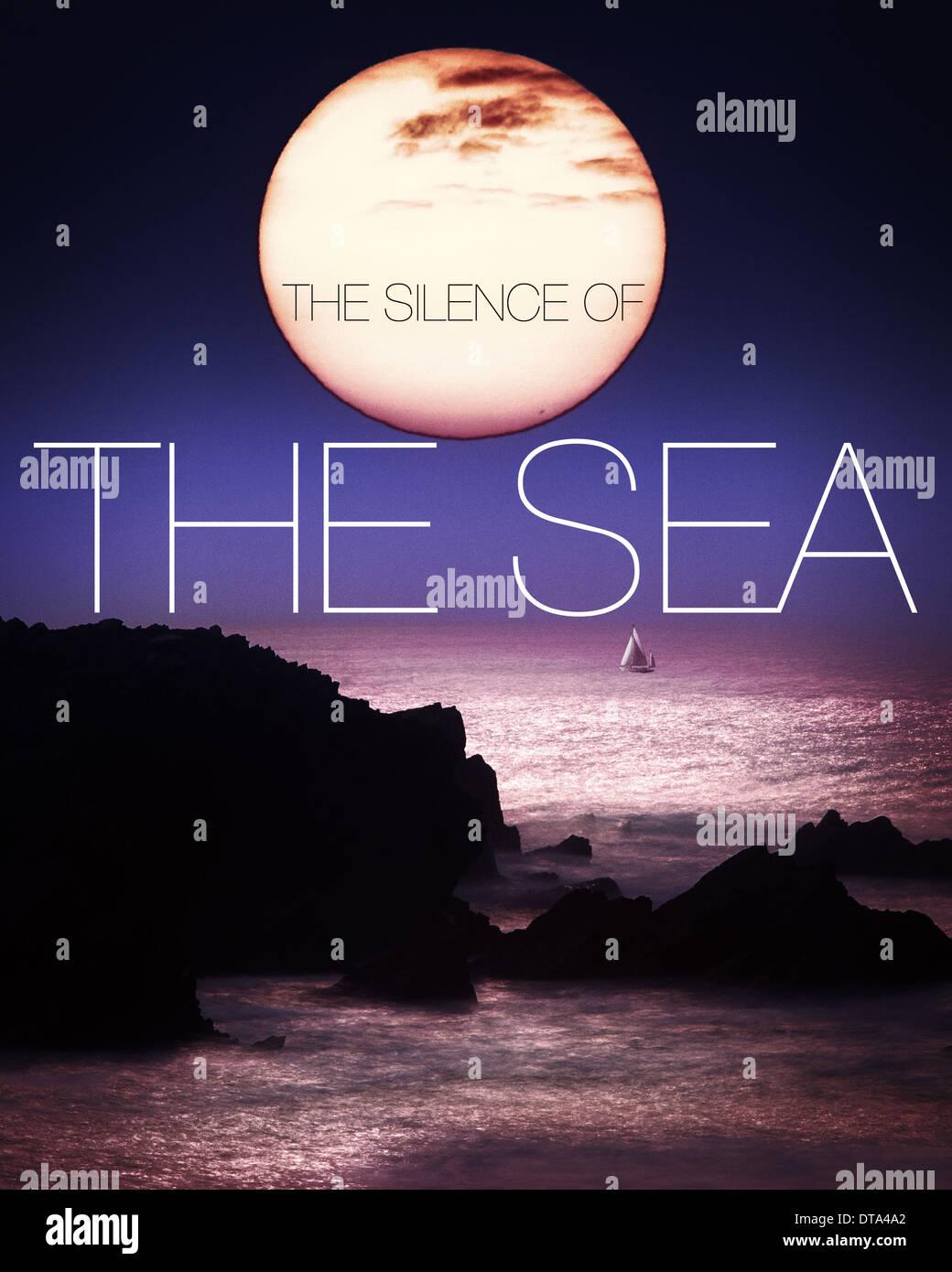 Konzept-Fotografie: Das Schweigen des Meeres Stockbild