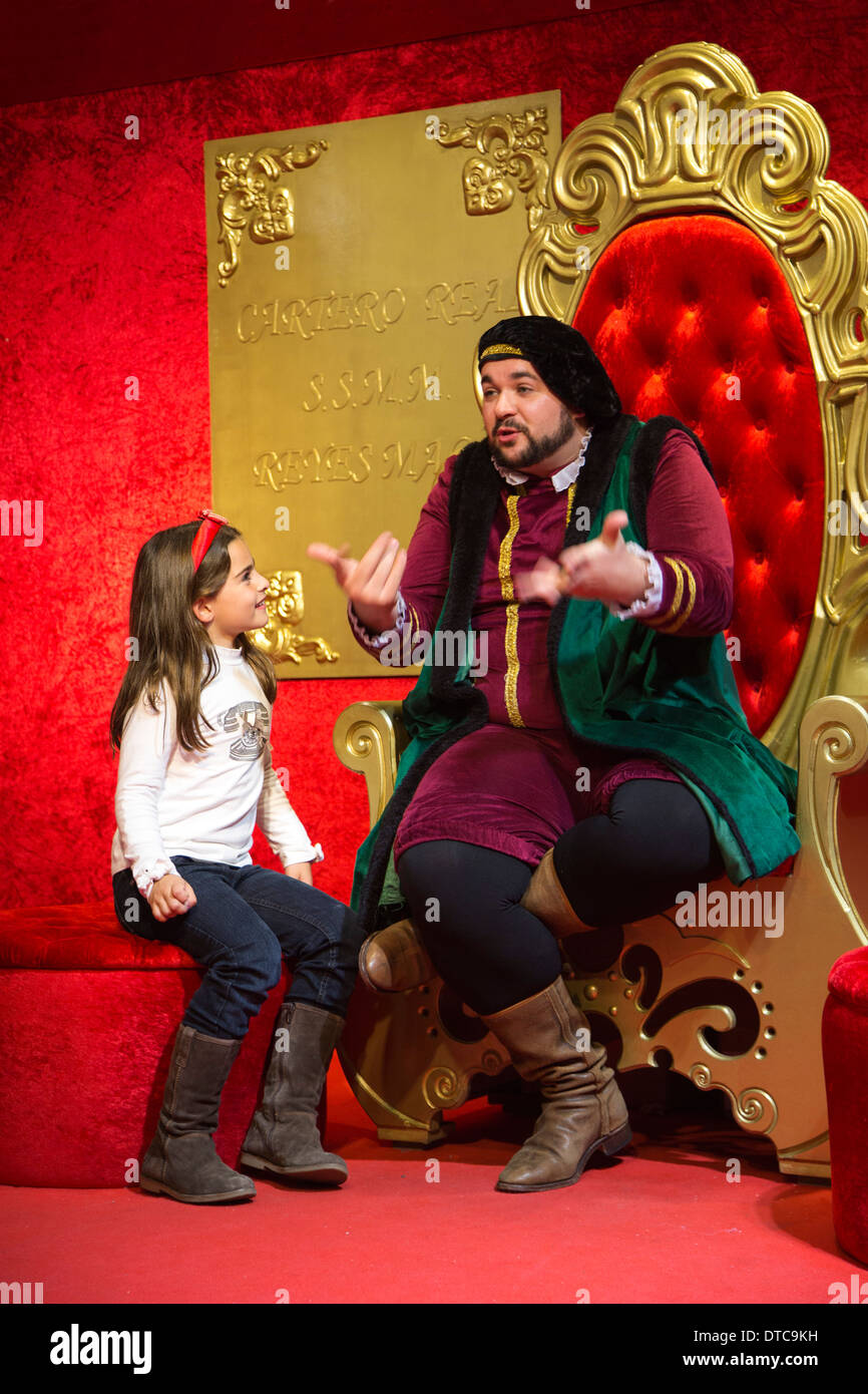 Reyes Magos Weihnachten in Corte Ingles Malaga Andalusien Spanien Navidad Andalusien Stockbild