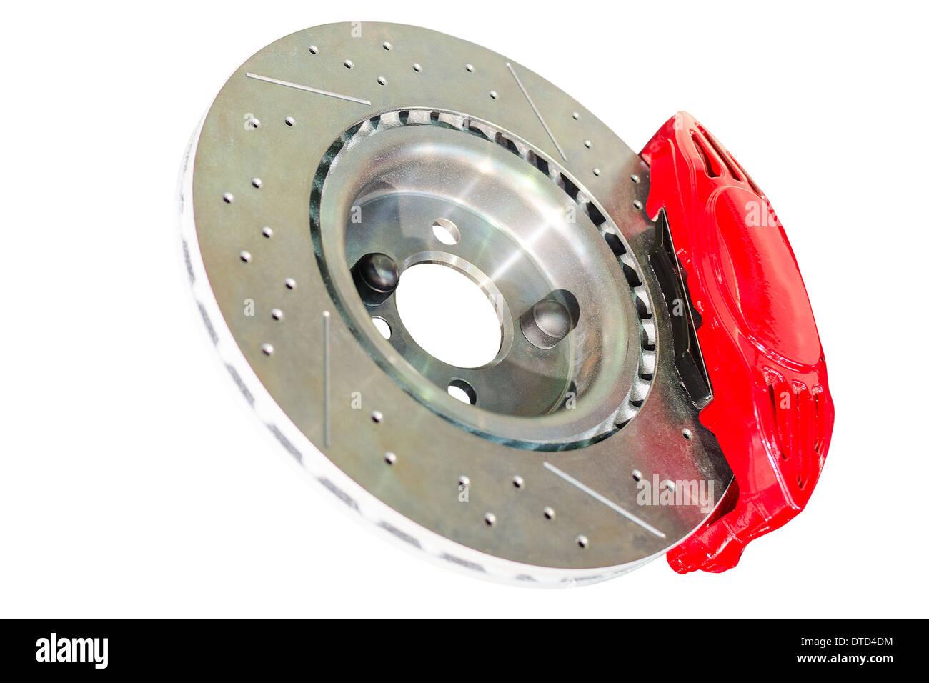 Bremssattel Disc und Pads von mechanischen Auto Bremsanlage montiert Stockbild