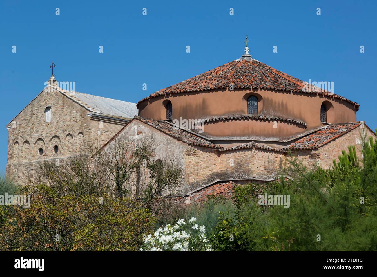 Kirche auf einer Insel in der Nähe von Venedig, Italien Stockbild