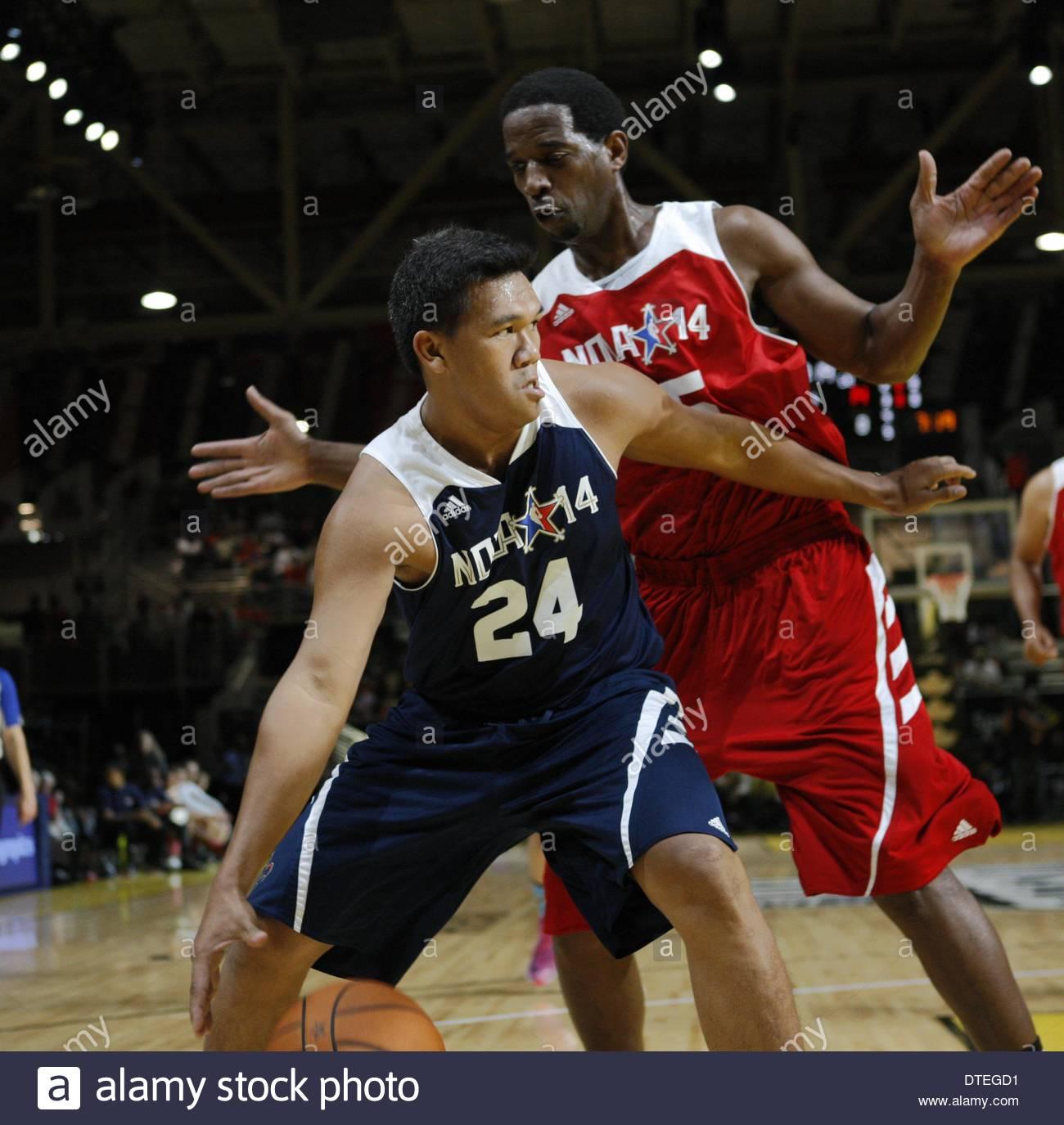 New Orleans, USA. 16. Februar 2014. Ehemaliger NBA-Spieler A.C. ...