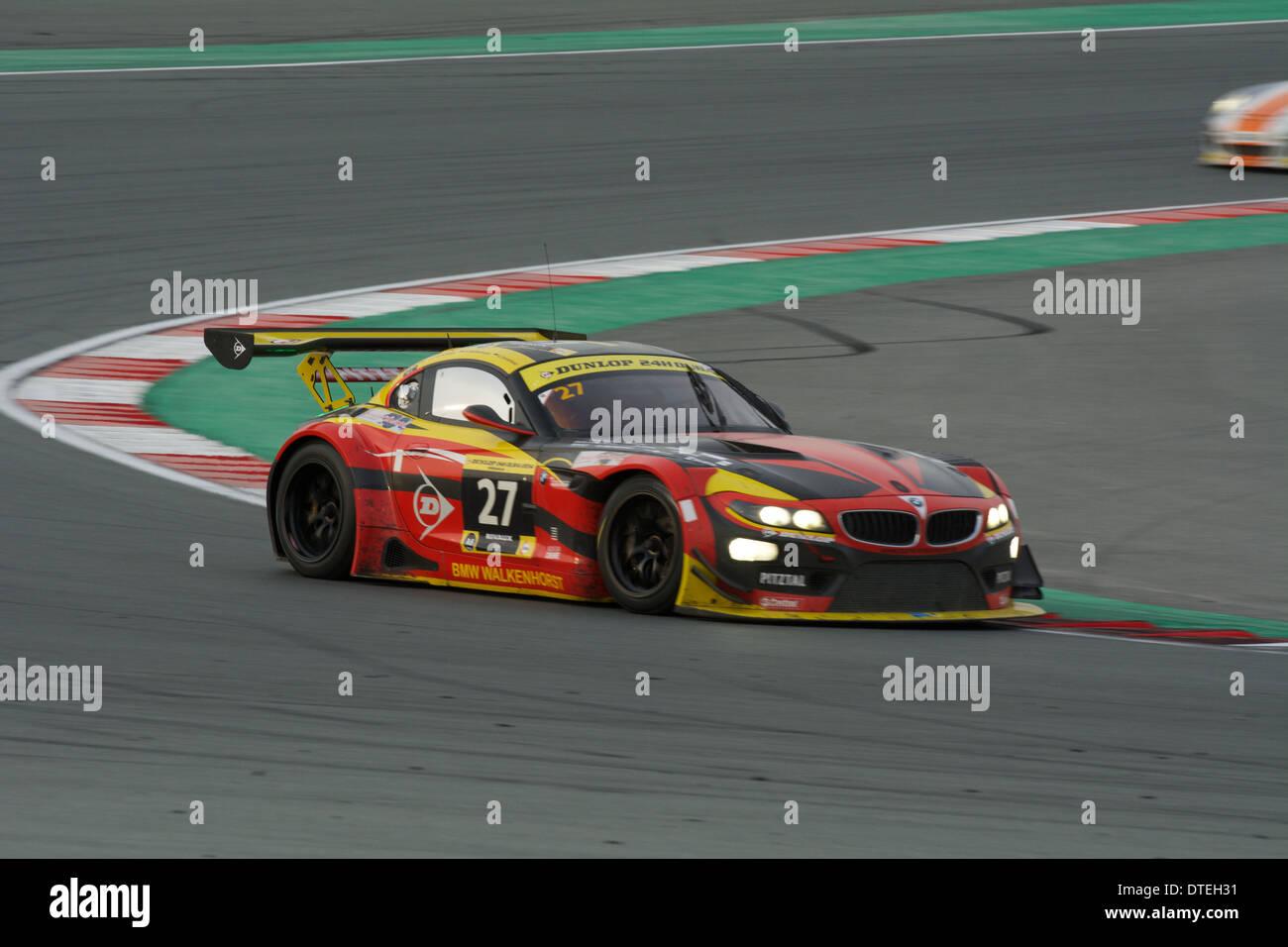 Walkenhorst Motorsport BMW Z4 GT3 Auto während der Dunlop 24h Dubai Autorennen in Dubai Autodrome Stockbild