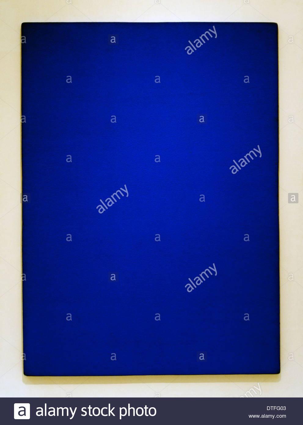 Monochrom blau KB 73 - Yves Klein Frankreich Französisch Stockbild