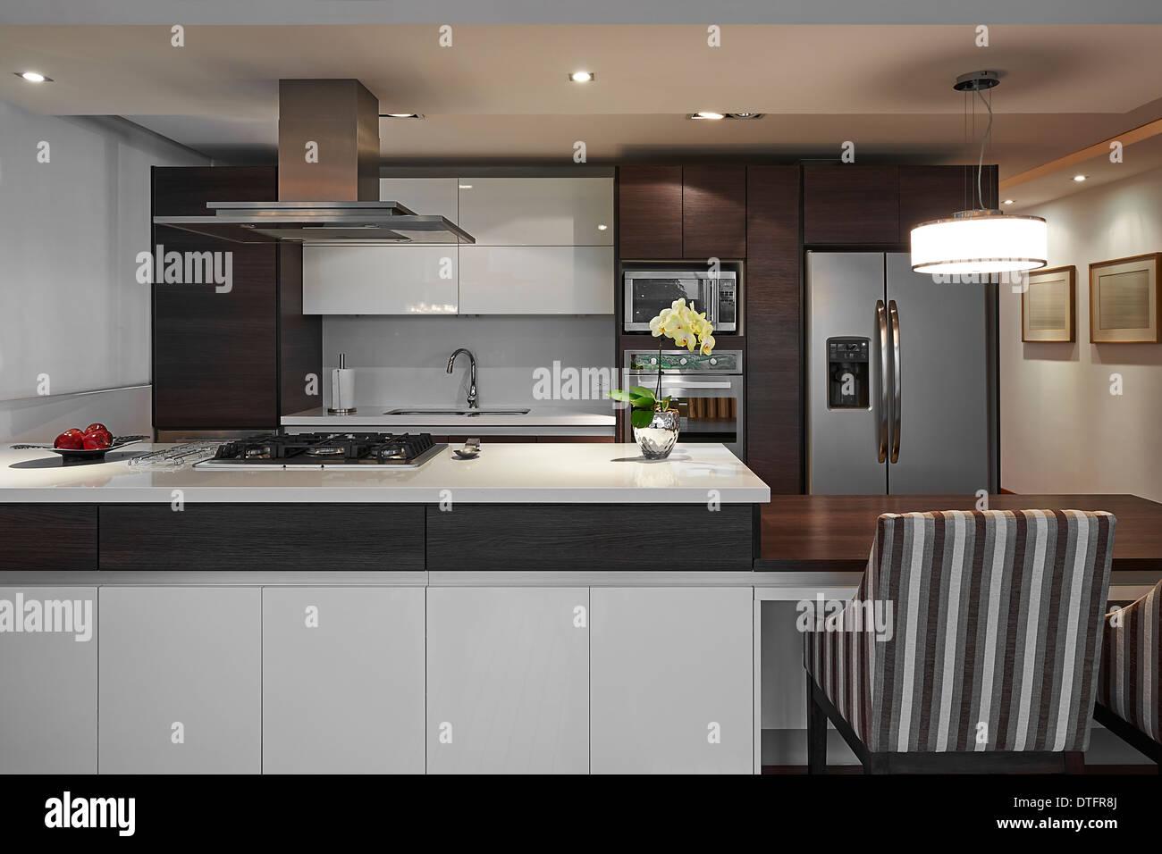 Innenarchitektur: Moderne Große Küche