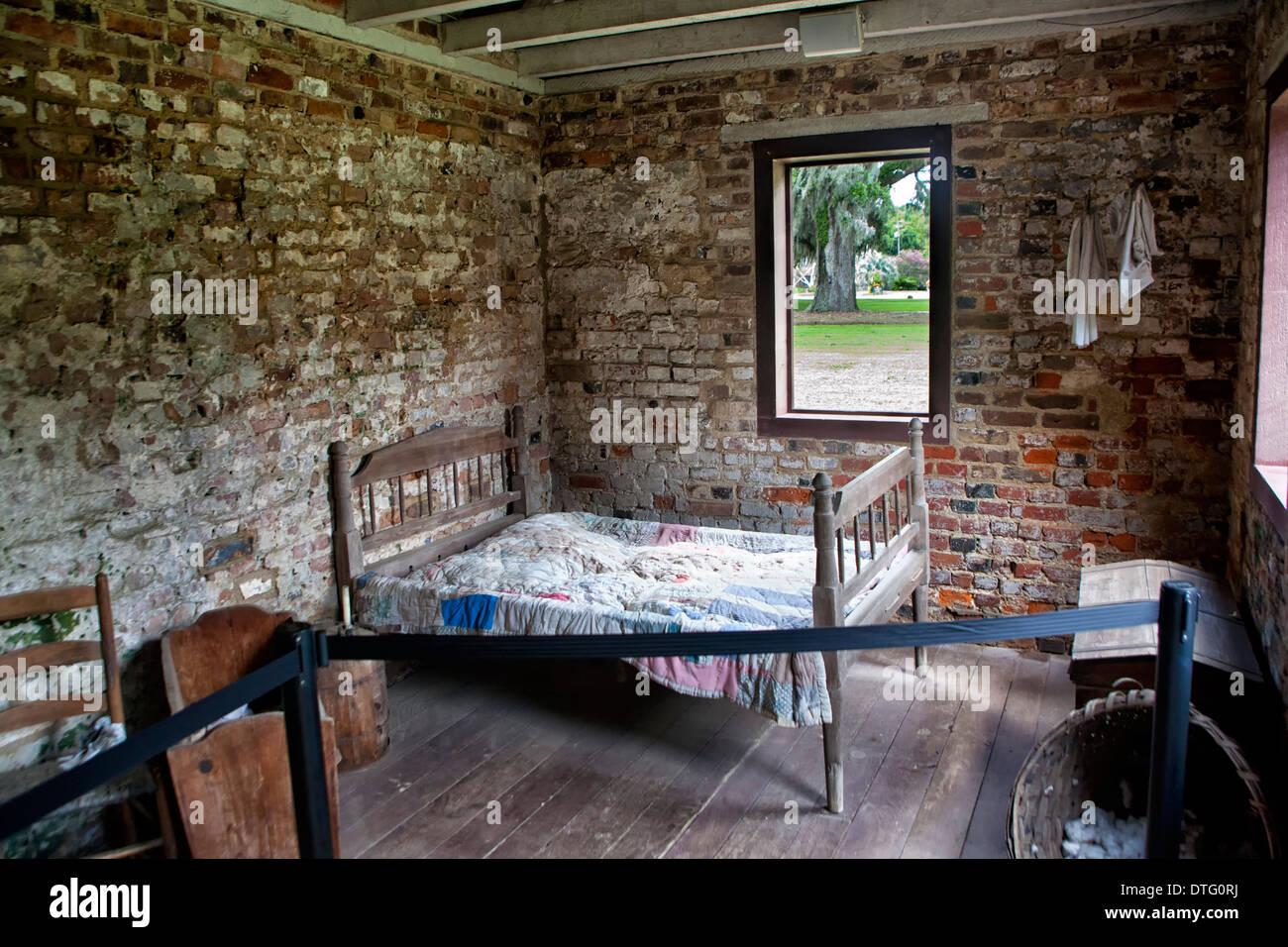 Boone Hall Plantation Slave Haus Stockbild
