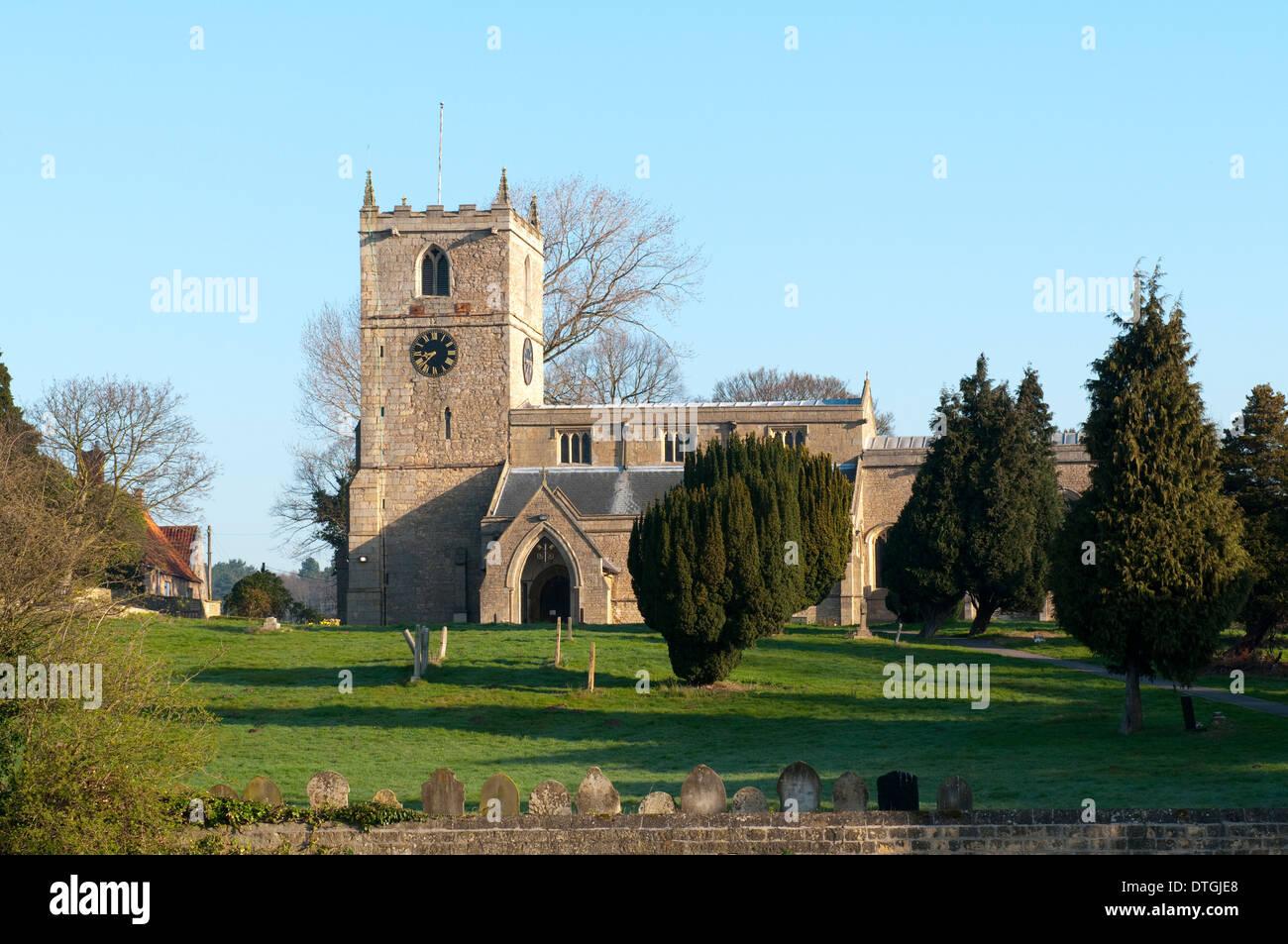 Die Kirche St. Peter und St. Paul Kirche Warsop Nottinghamshire England UK Stockbild