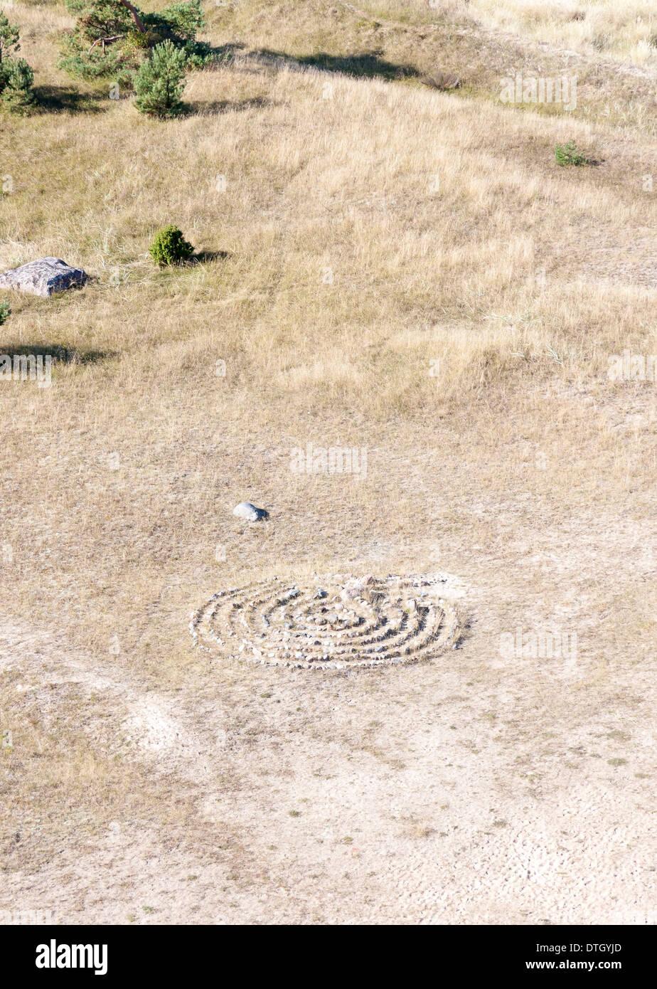 spiral labyrinth stockfotos spiral labyrinth bilder alamy. Black Bedroom Furniture Sets. Home Design Ideas