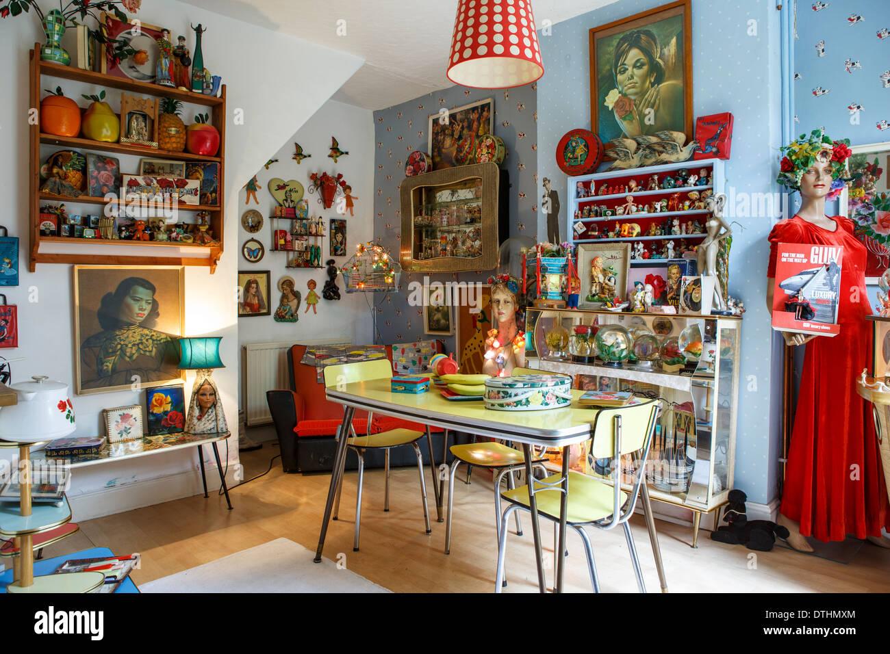 50er Jahre fünfziger Jahre Kitsch nach Hause innen Zierpflanzen ...