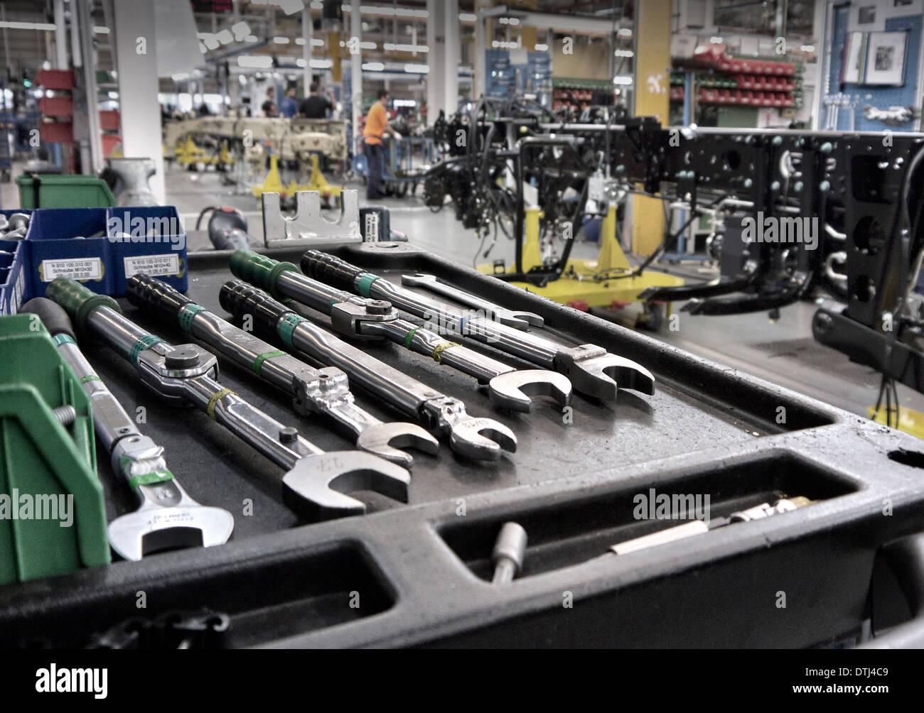 Spezielle Fahrzeug-Produktionslinie Mercedes Benz Fabrik Wert Deutschland. Stockbild
