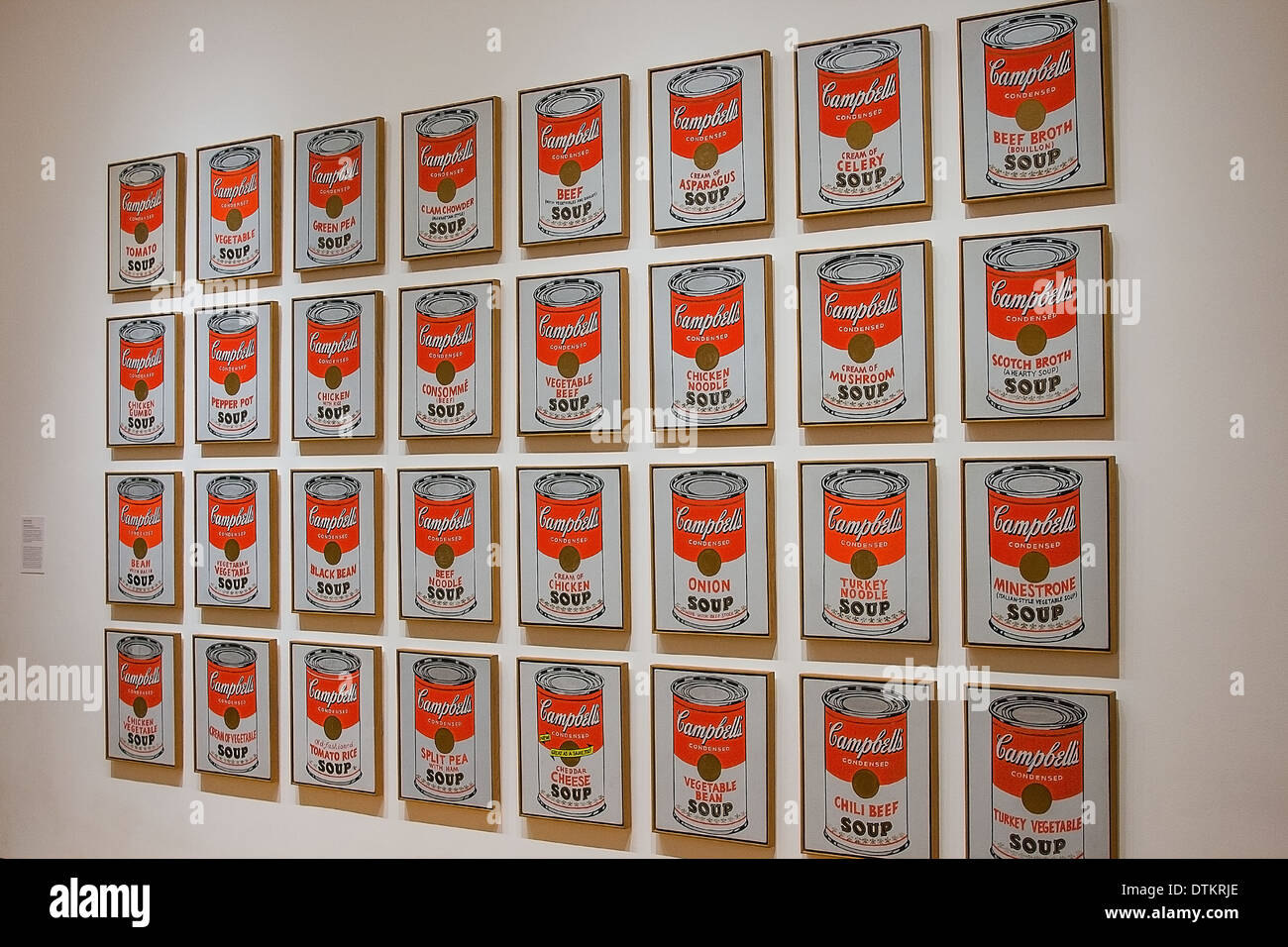 Andy Warhol Campbell Suppe Stockfotos Andy Warhol Campbell Suppe