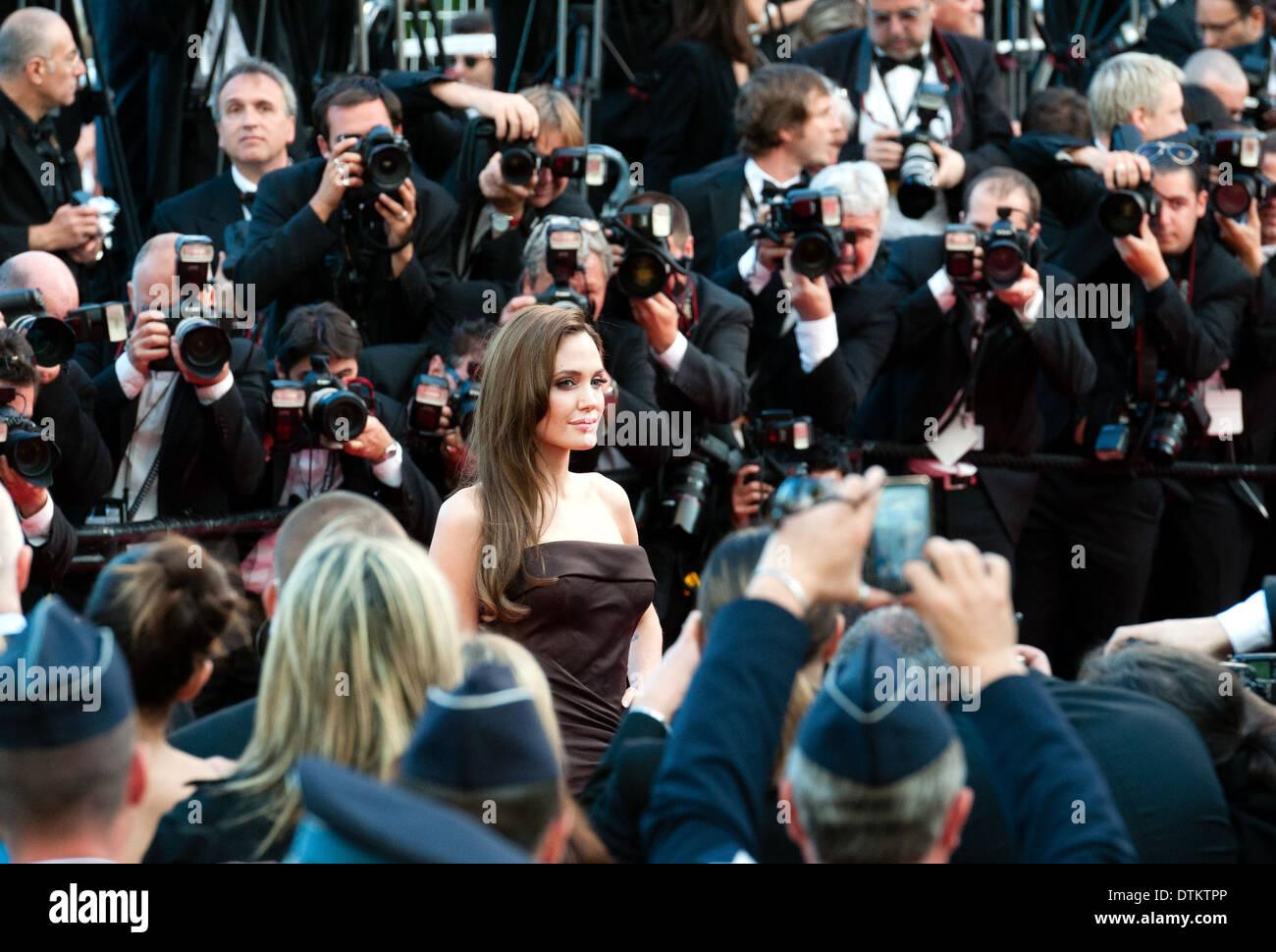 Europa, Frankreich, Alpes-Maritimes, Filmfestspiele von Cannes. Die Schauspielerin Angelina Jolie. Stockbild