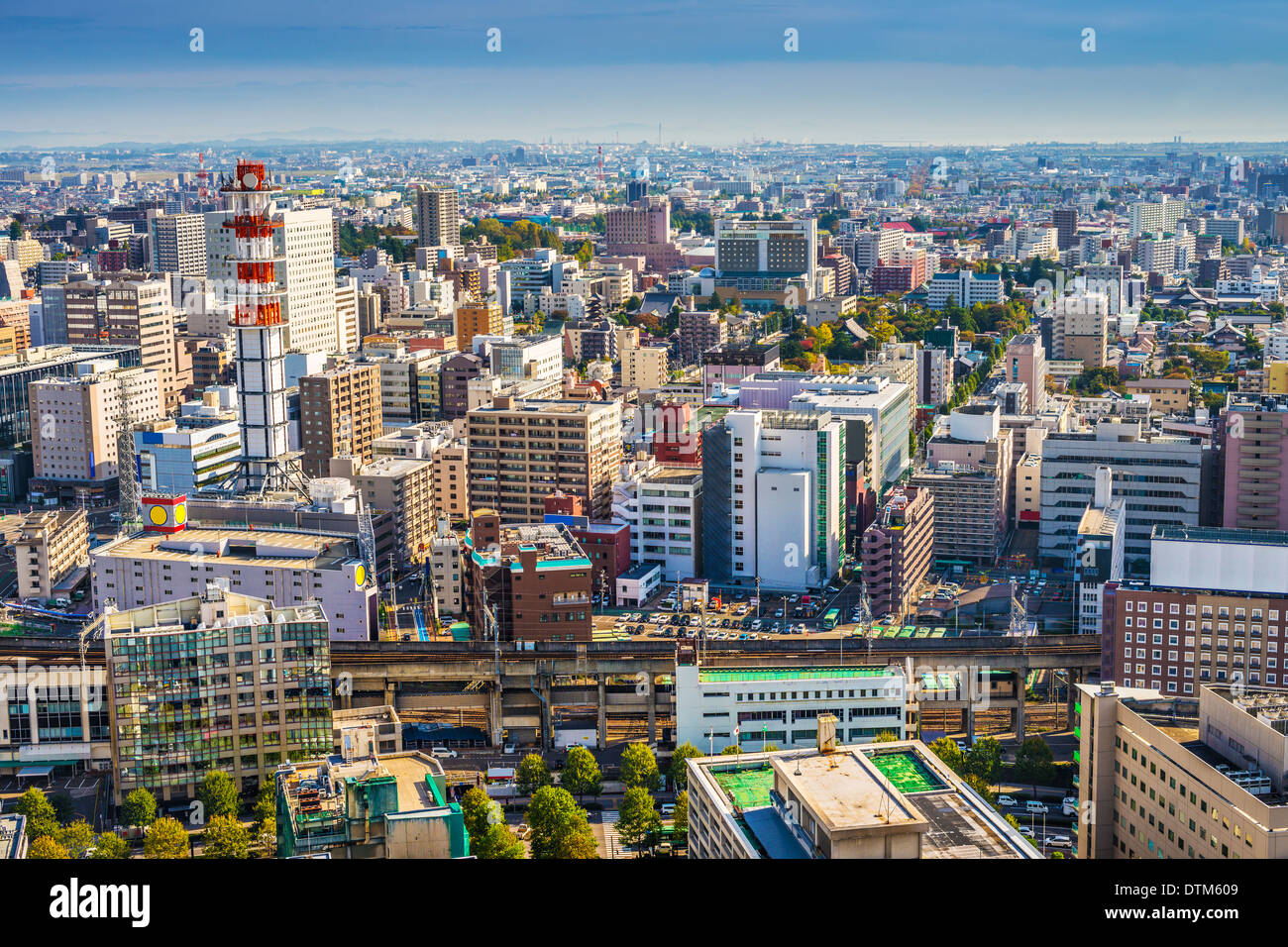 Sendai, Japan Stadtbild in der Central Station. Stockbild