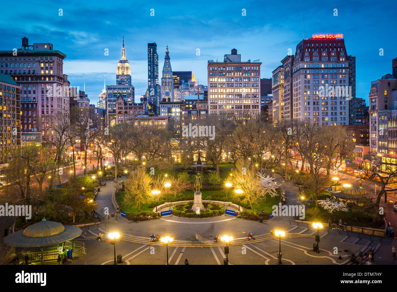 New York City am Union Square in Manhattan. Stockbild