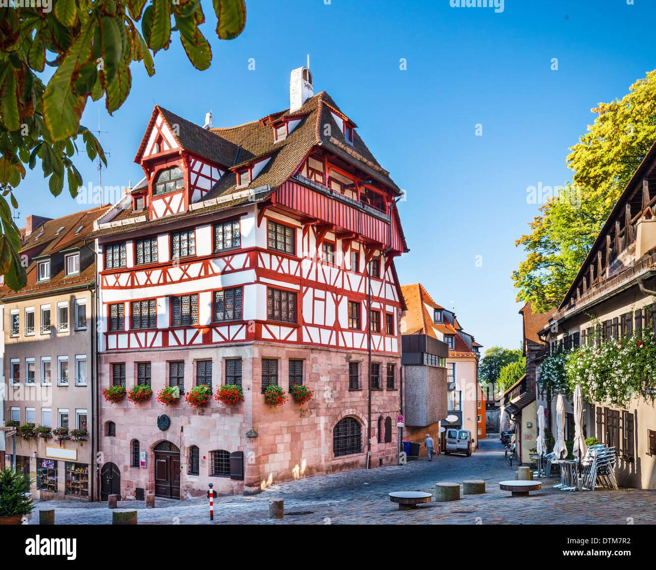 Nürnberg, Deutschland am historischen Albrecht Dürer Haus Stockfoto ...