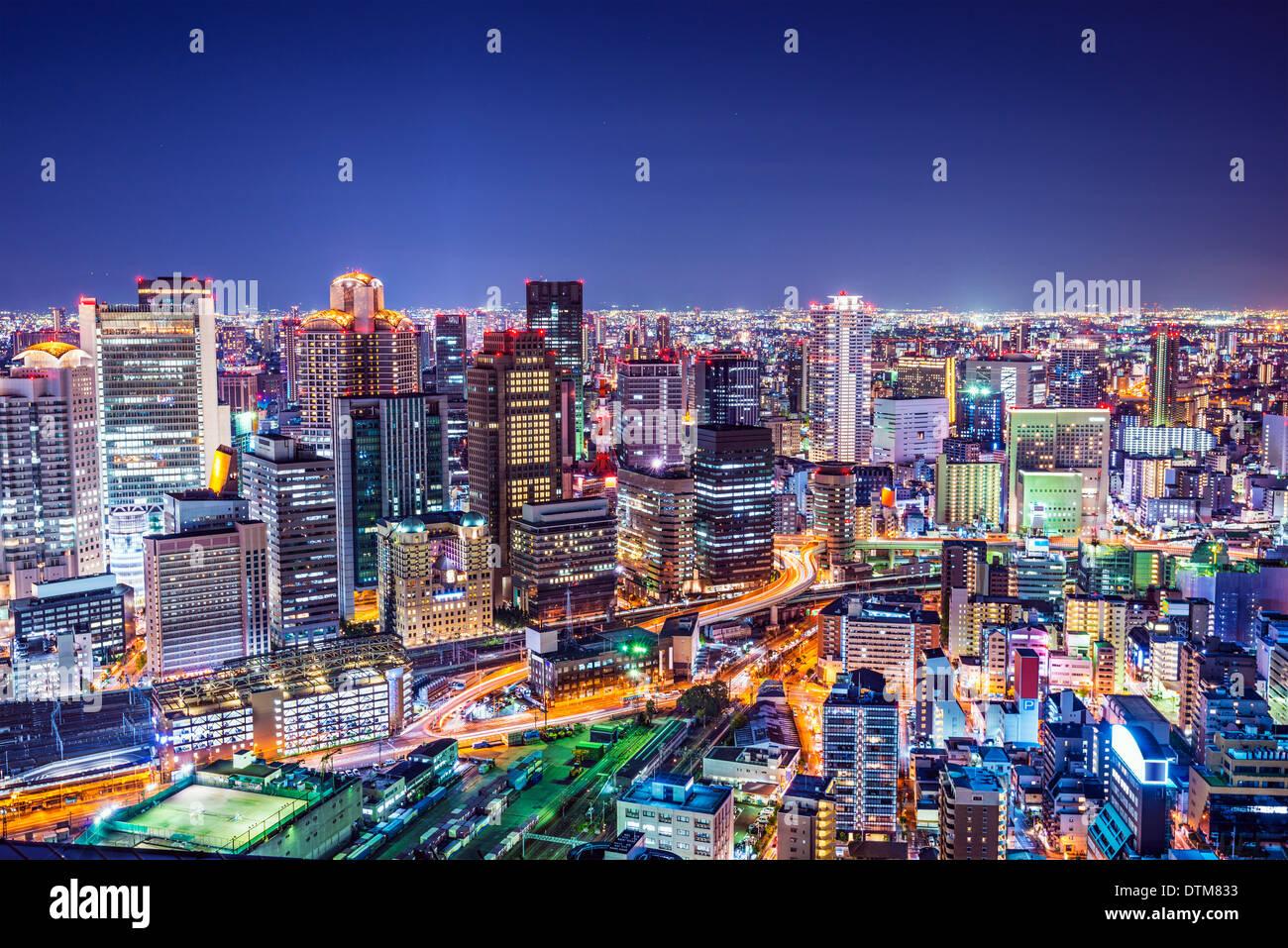Osaka, Japan am Wahrzeichen Umeda Bezirk. Stockbild