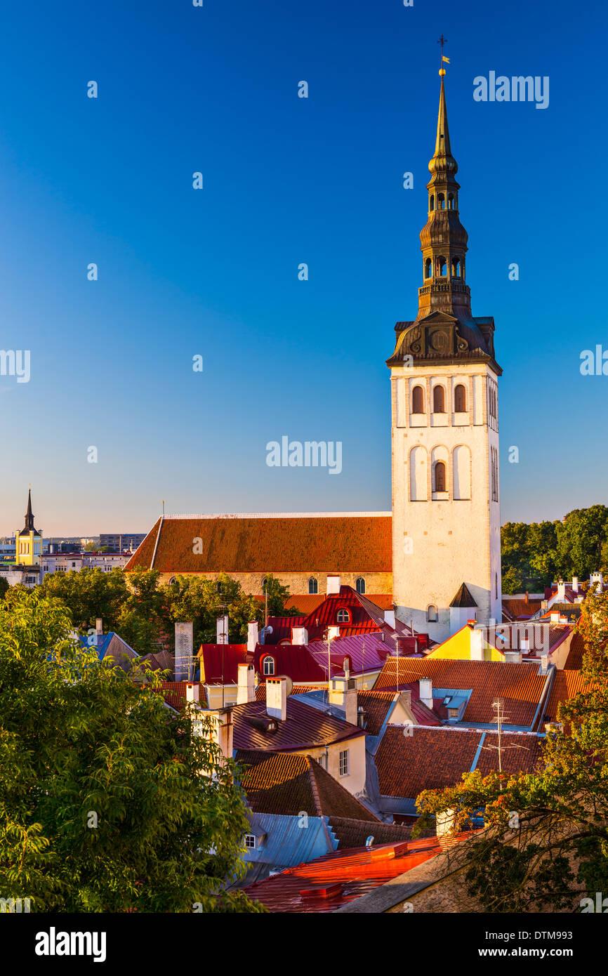 Tallinn, Estland alte Stadtansicht. Stockbild