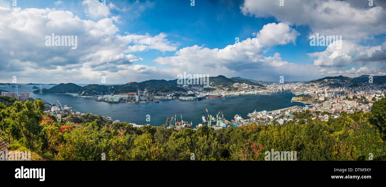 Nagasaki, Japan Panorama. Stockbild