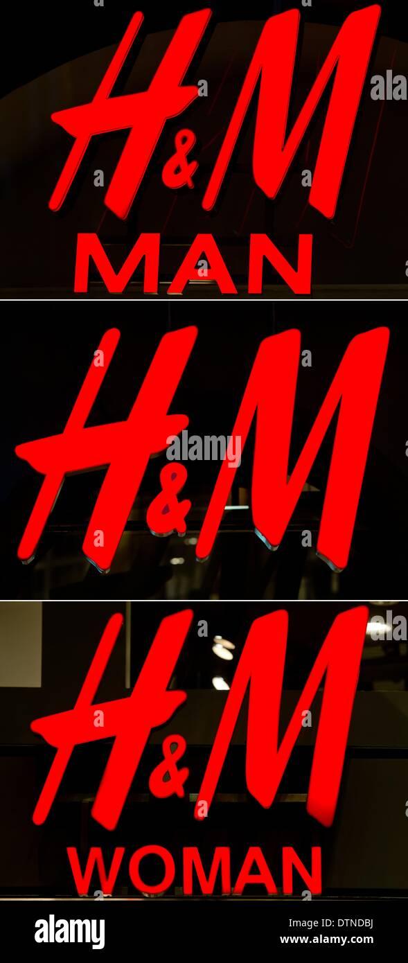 Das Logo Der Mode Stuhl Hennes Und Maurtiz Mann H M Im Store In